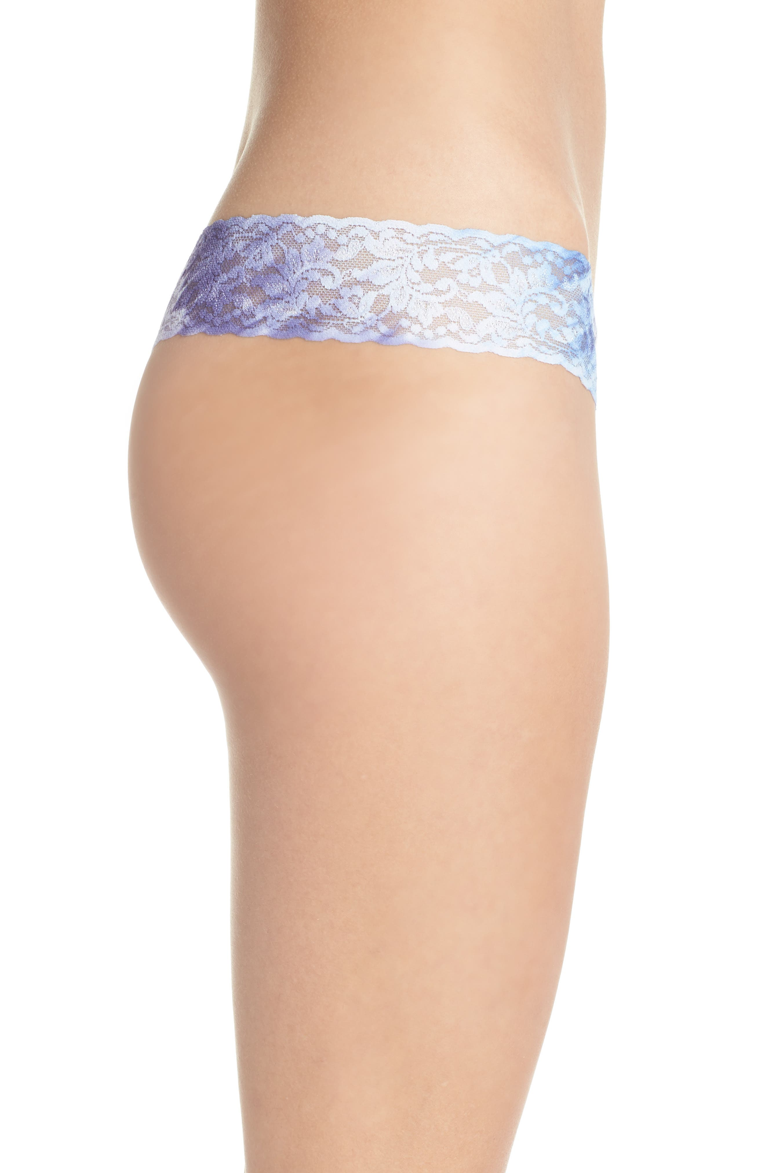 Print Low Rise Thong,                             Alternate thumbnail 45, color,