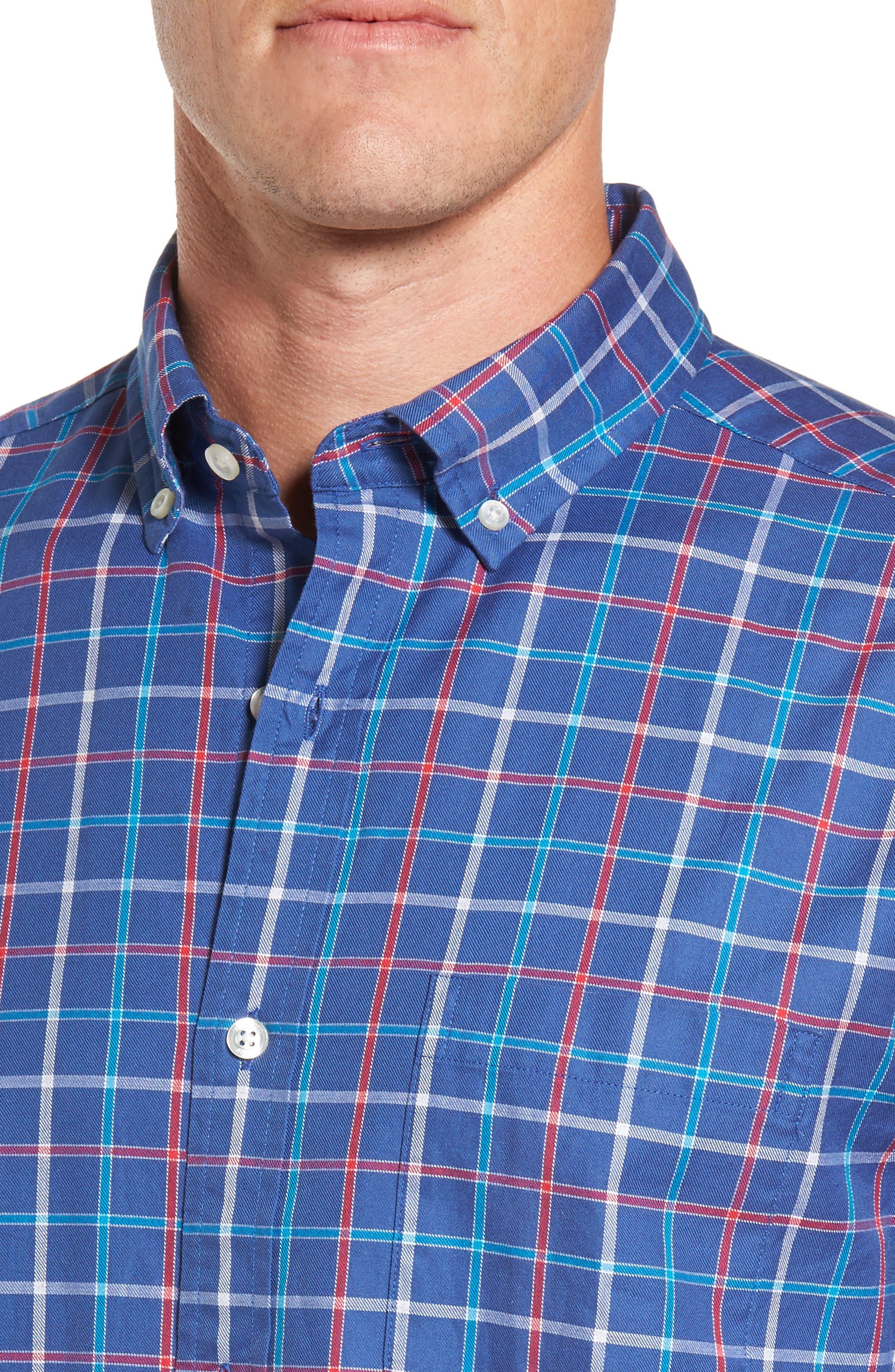 Classic Fit Murray Jade Cove Check Sport Shirt,                             Alternate thumbnail 4, color,