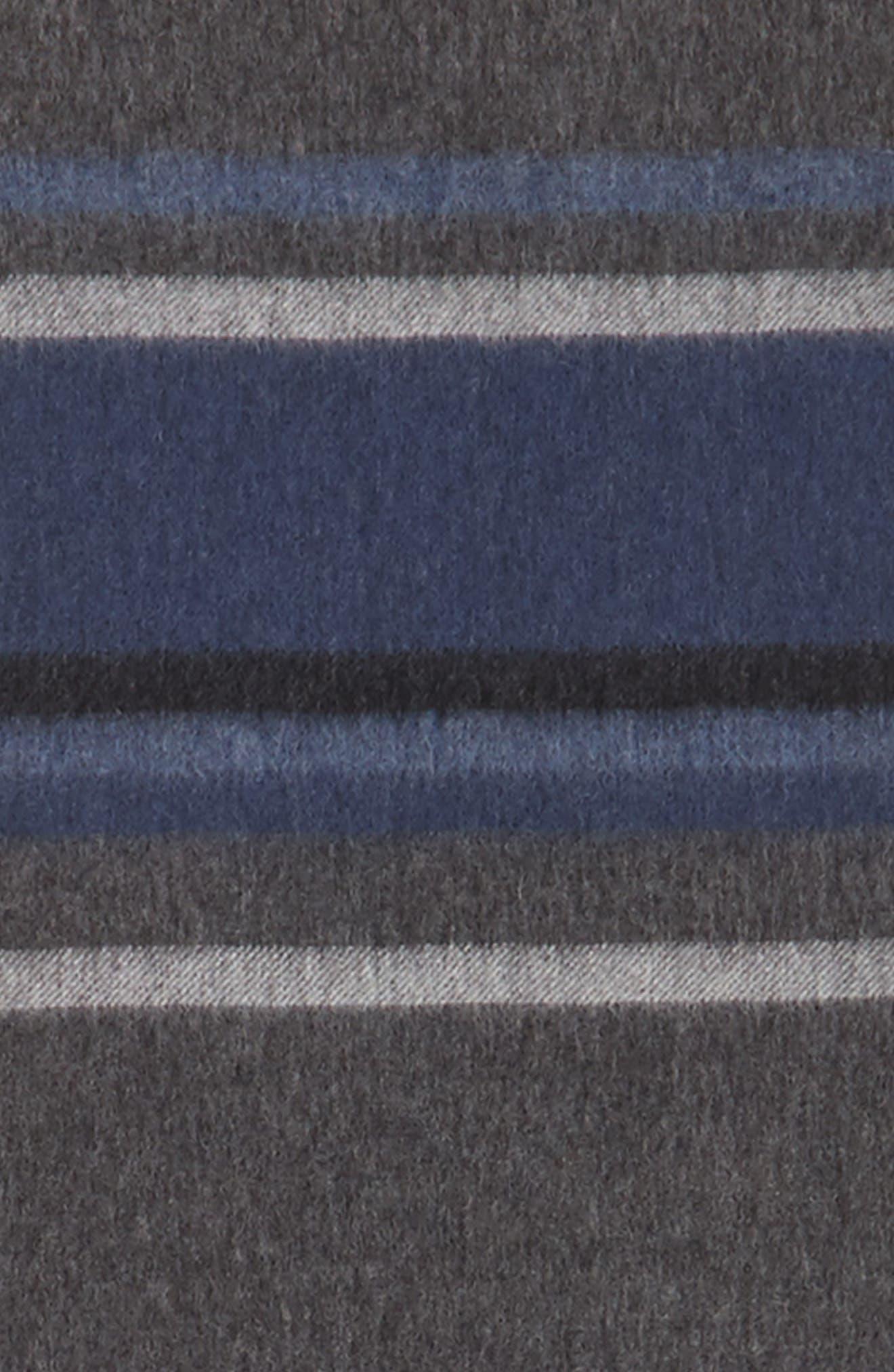 Multistripe Lambswool Scarf,                             Alternate thumbnail 3, color,                             030