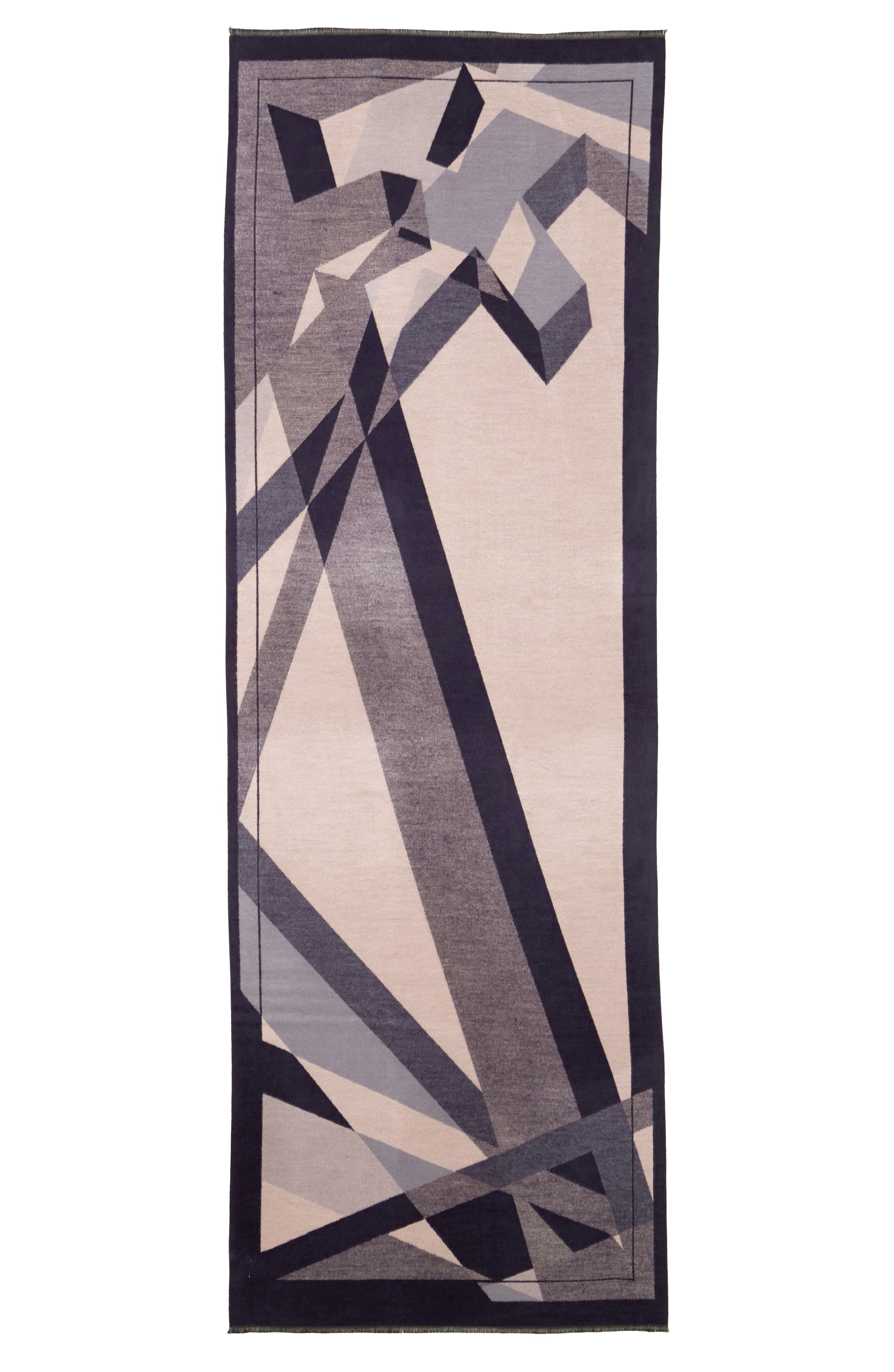 Abstract Geo Print Scarf,                             Alternate thumbnail 2, color,                             400