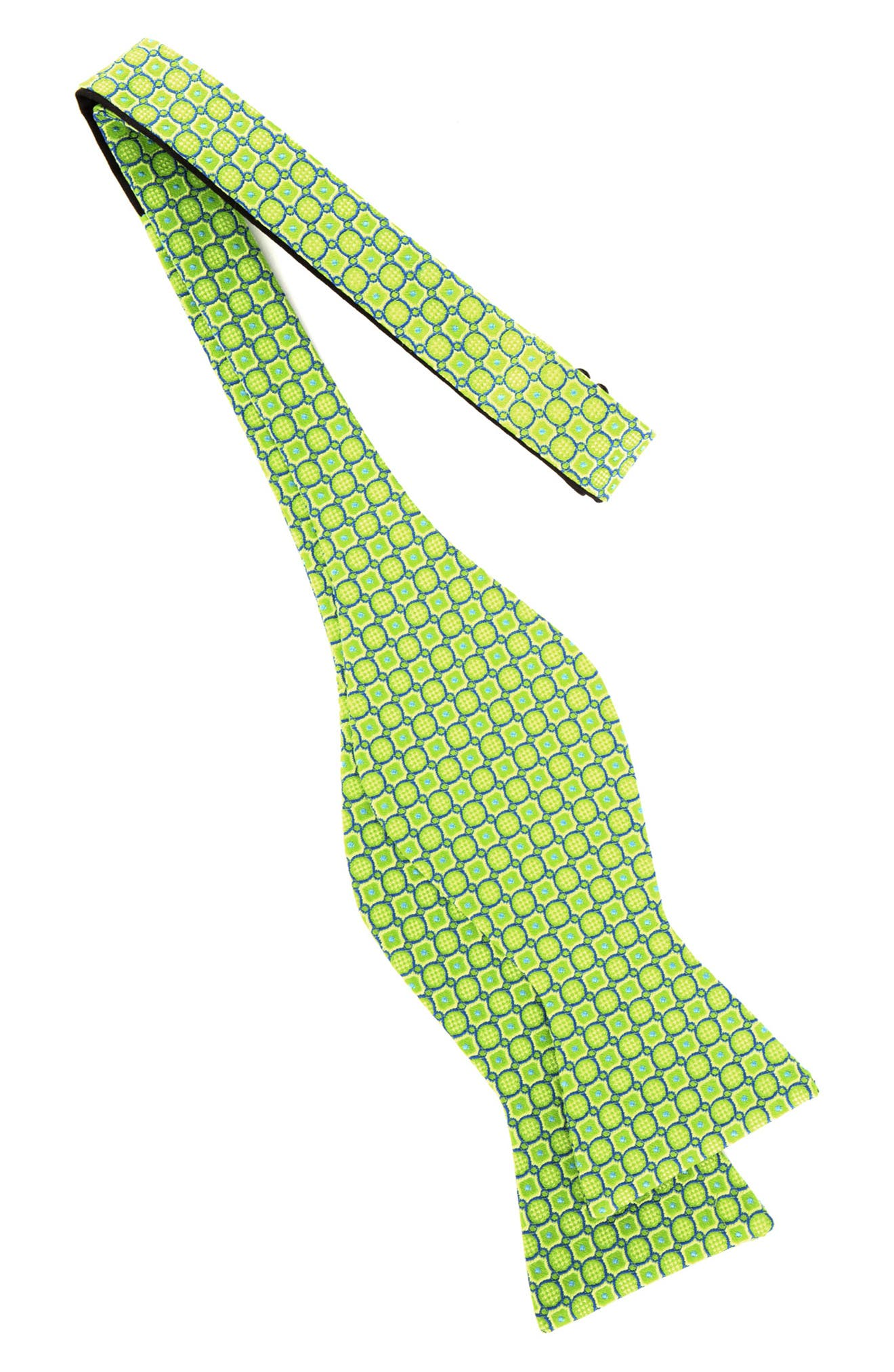 Geo Print Silk Bow Tie,                             Alternate thumbnail 2, color,                             GREEN
