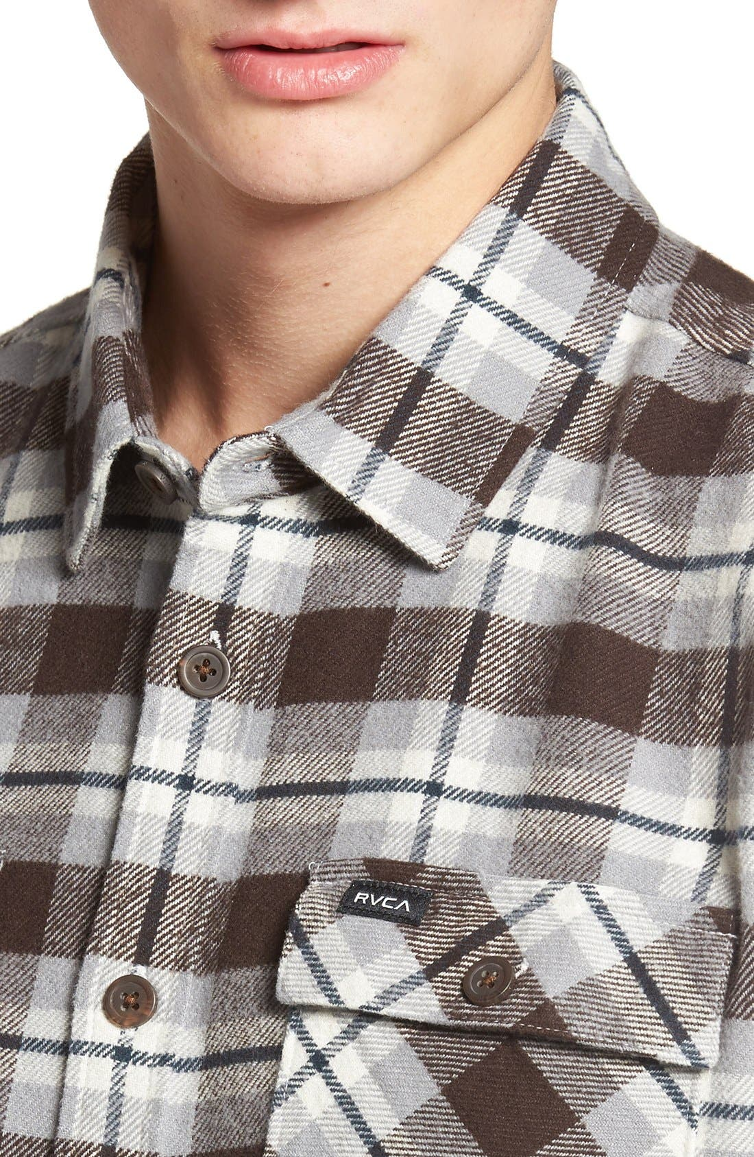 'That'll Work' Trim Fit Plaid Flannel Shirt,                             Alternate thumbnail 36, color,