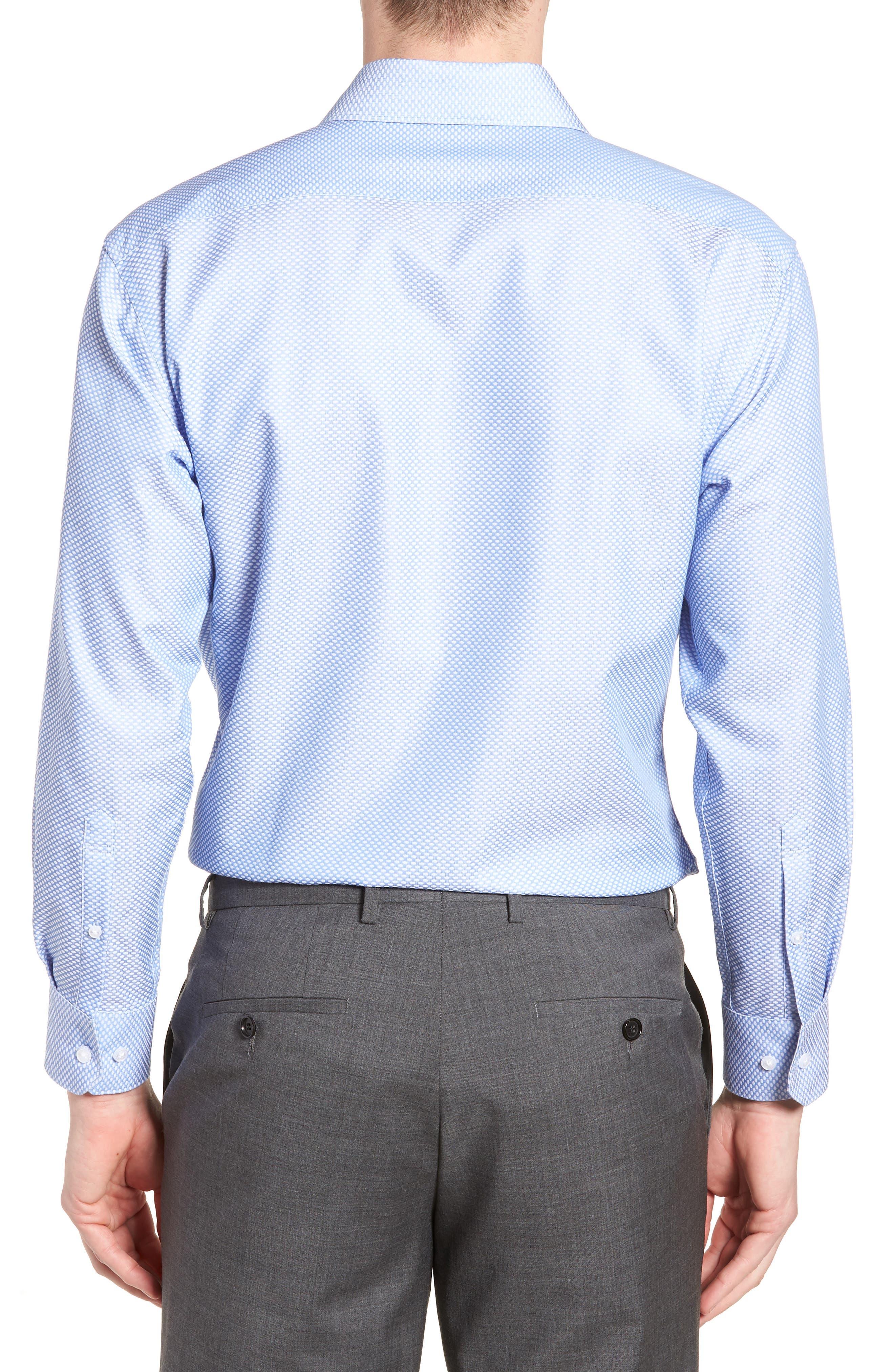 Holmes Trim Fit Dot Dress Shirt,                             Alternate thumbnail 3, color,                             450