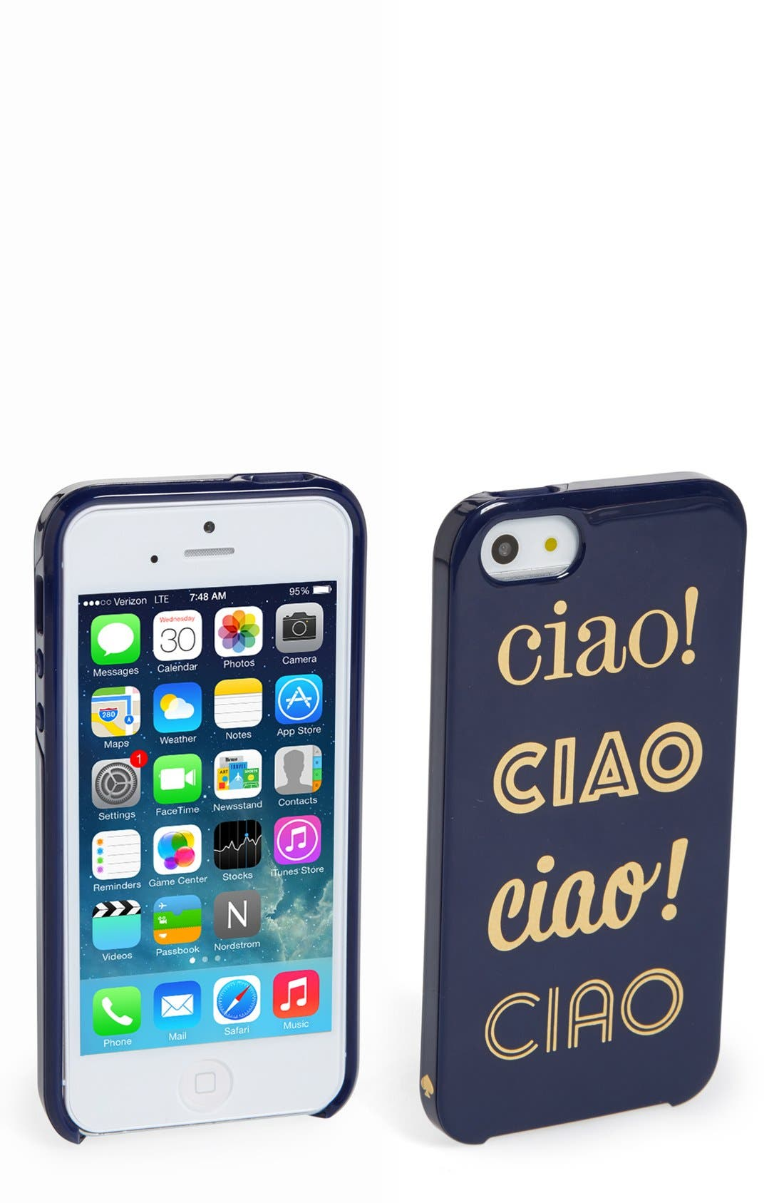 'ciao ciao ciao ' iPhone 5 & 5s case,                             Main thumbnail 1, color,                             401
