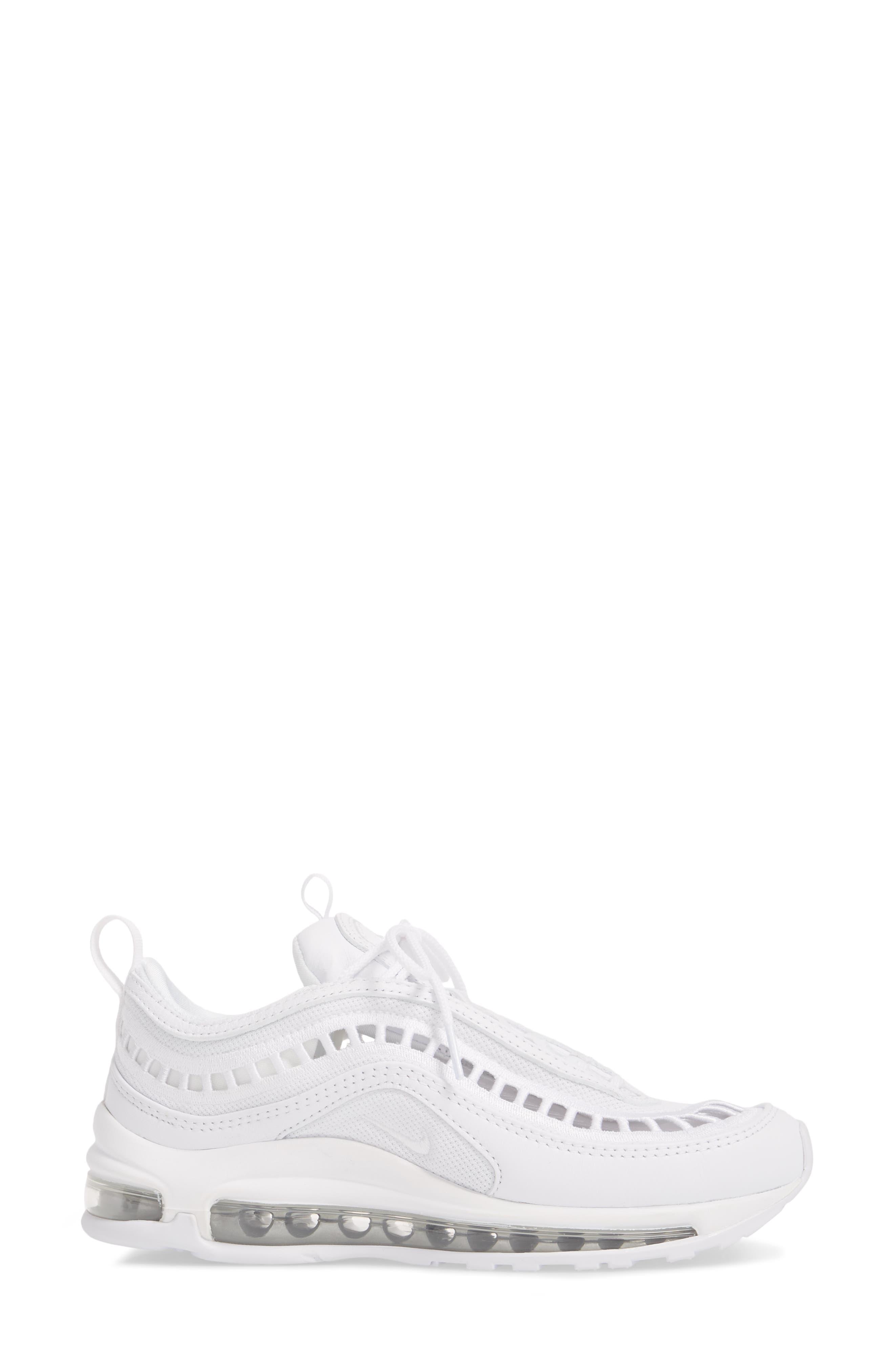 Air Max 97 Ultra '17 SI Sneaker,                             Alternate thumbnail 3, color,                             WHITE/ WHITE/ VAST GREY