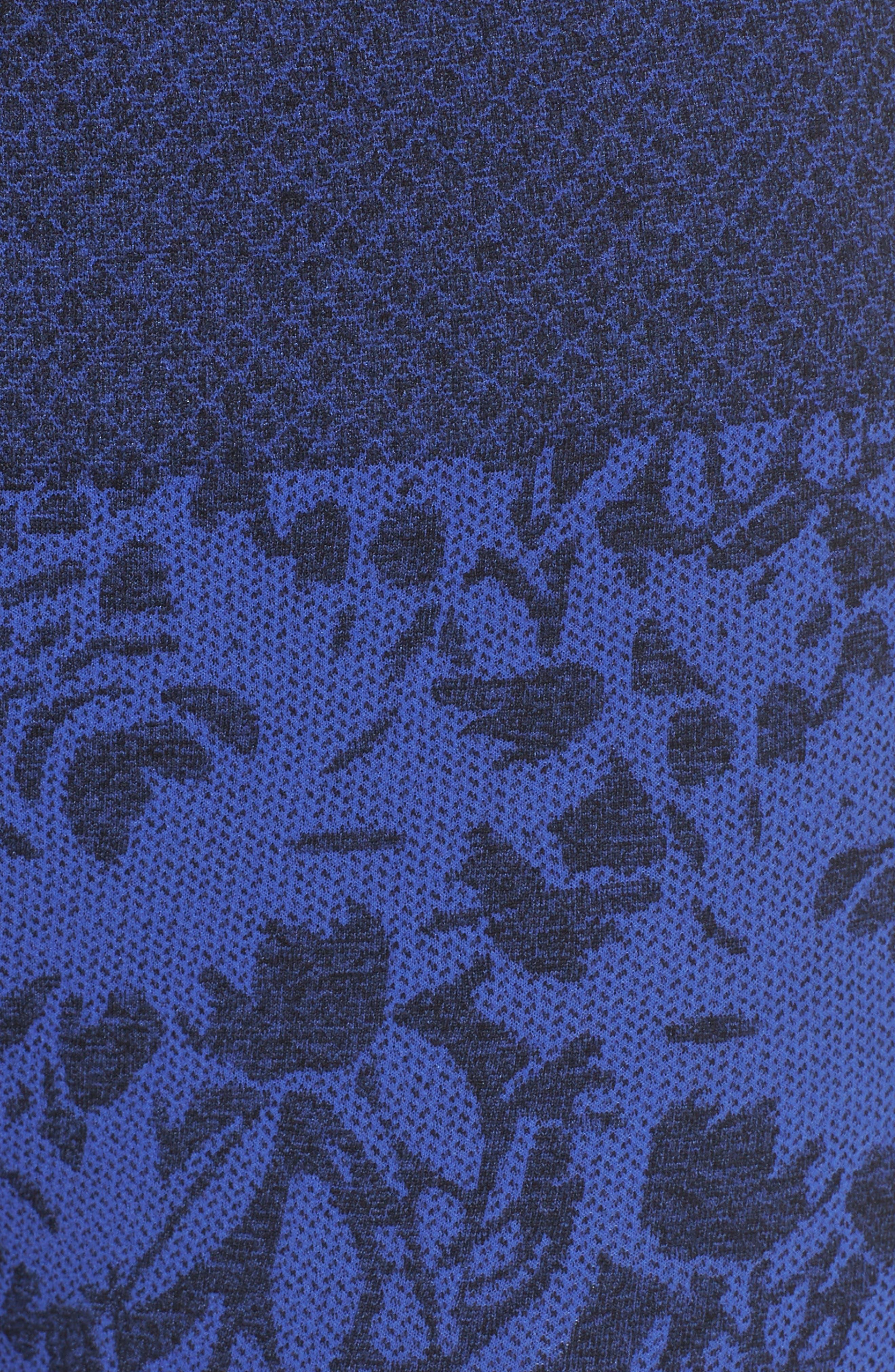 Pathway Capri Leggings,                             Alternate thumbnail 6, color,                             AMPARO BLUE/ BLACK MELANGE