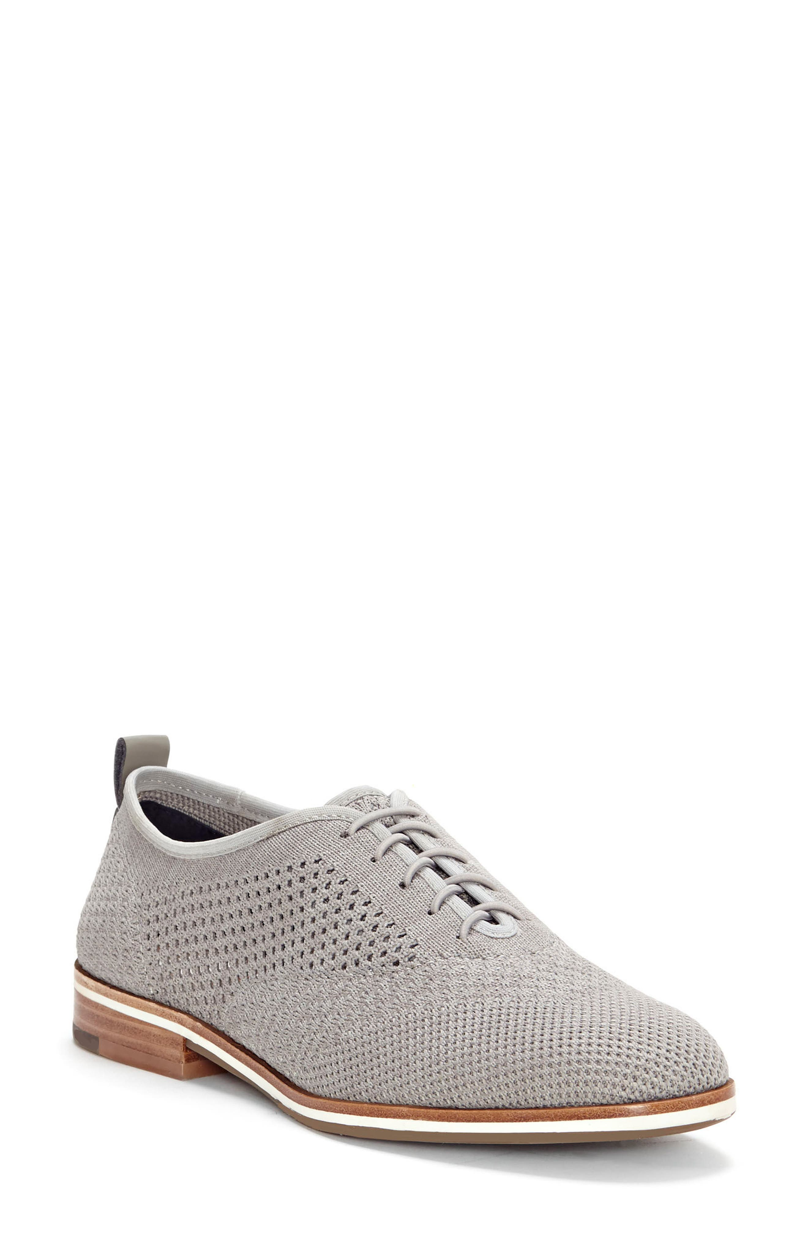 Lucerne Knit Oxford,                         Main,                         color, HEATHER GREY TEXTILE FABRIC