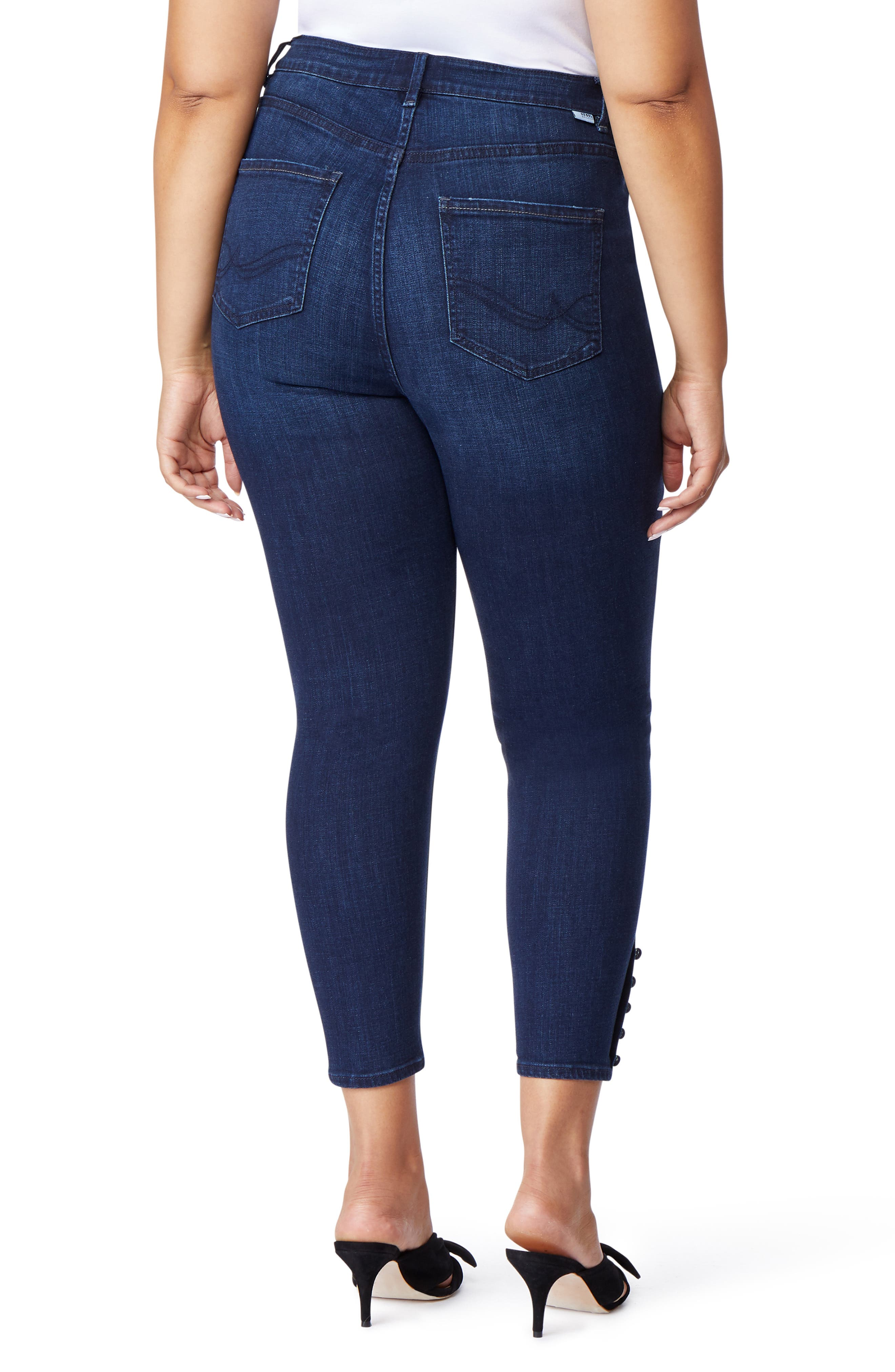 The Pin-Up Crop Skinny Jeans,                             Alternate thumbnail 2, color,                             BERKELEY