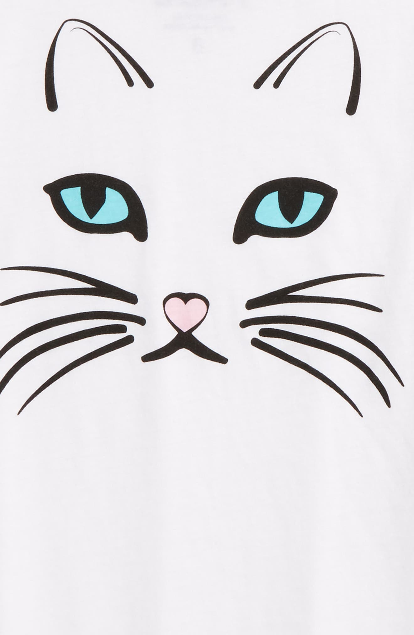 Kitty Graphic Tee,                             Alternate thumbnail 2, color,                             100