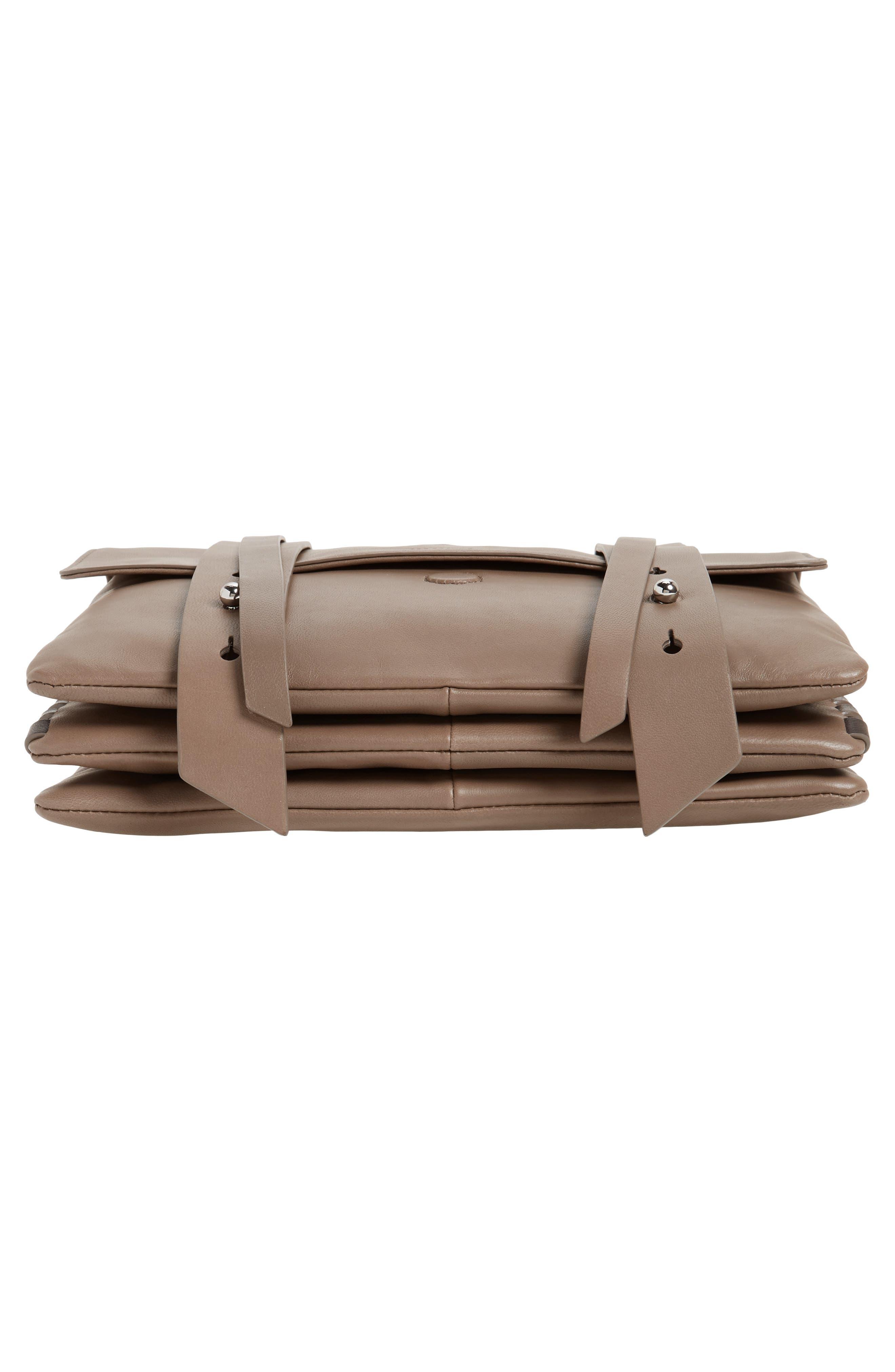 Fin Lambskin Leather Messenger Bag,                             Alternate thumbnail 11, color,