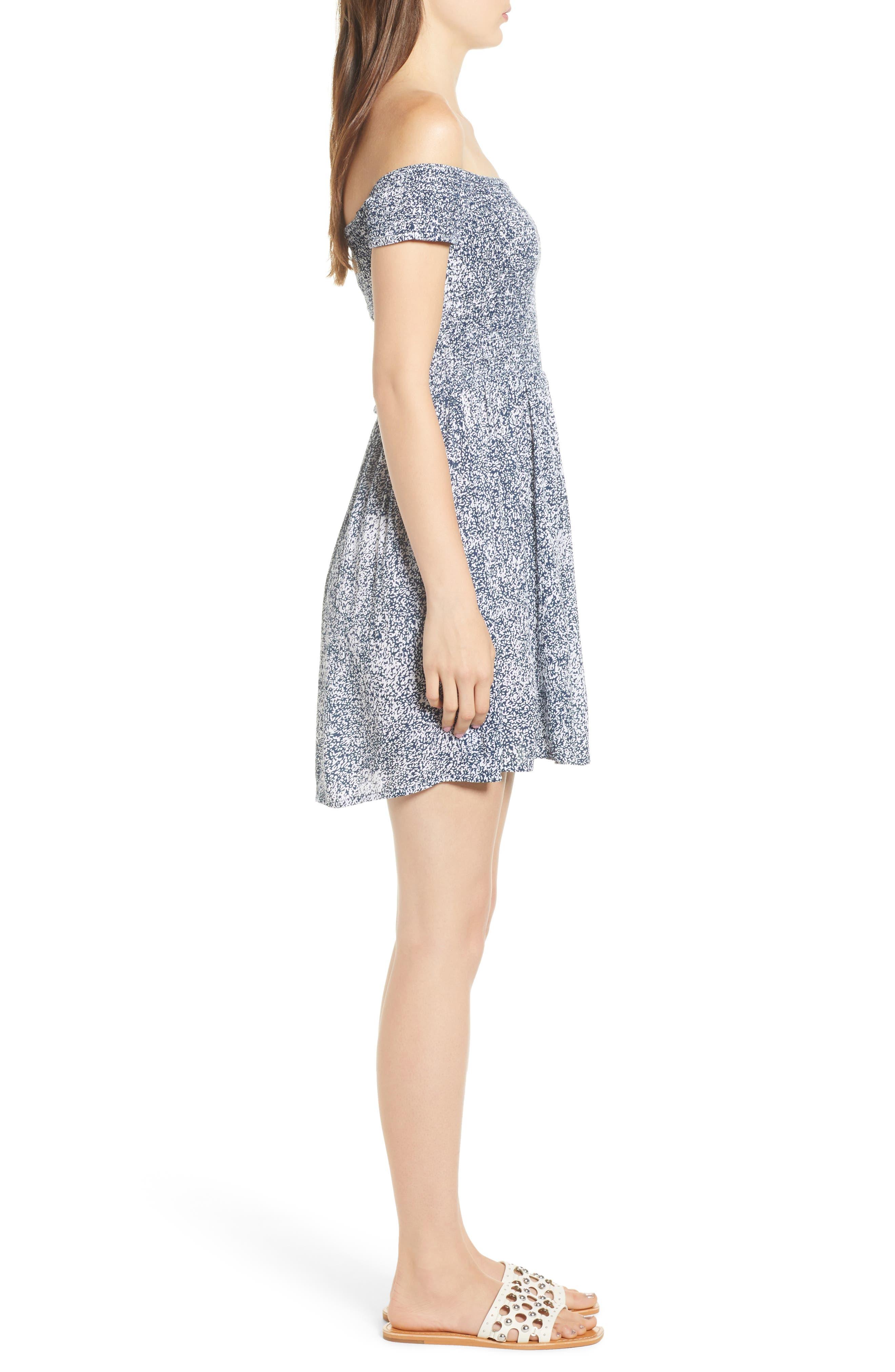 She's So Daisy Off the Shoulder Dress,                             Alternate thumbnail 3, color,                             415