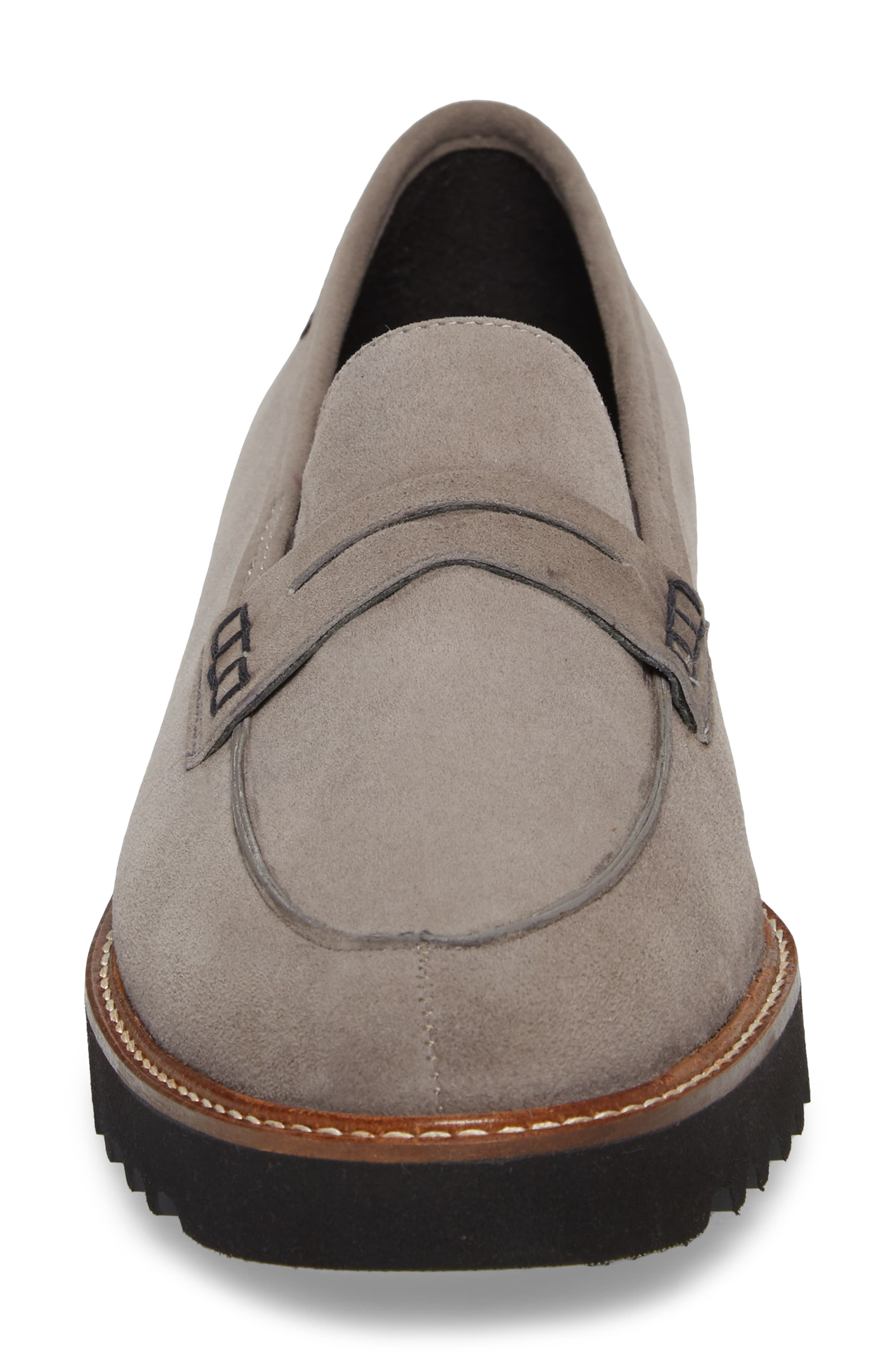 Sidney Penny Loafer,                             Alternate thumbnail 4, color,                             GREY SUEDE