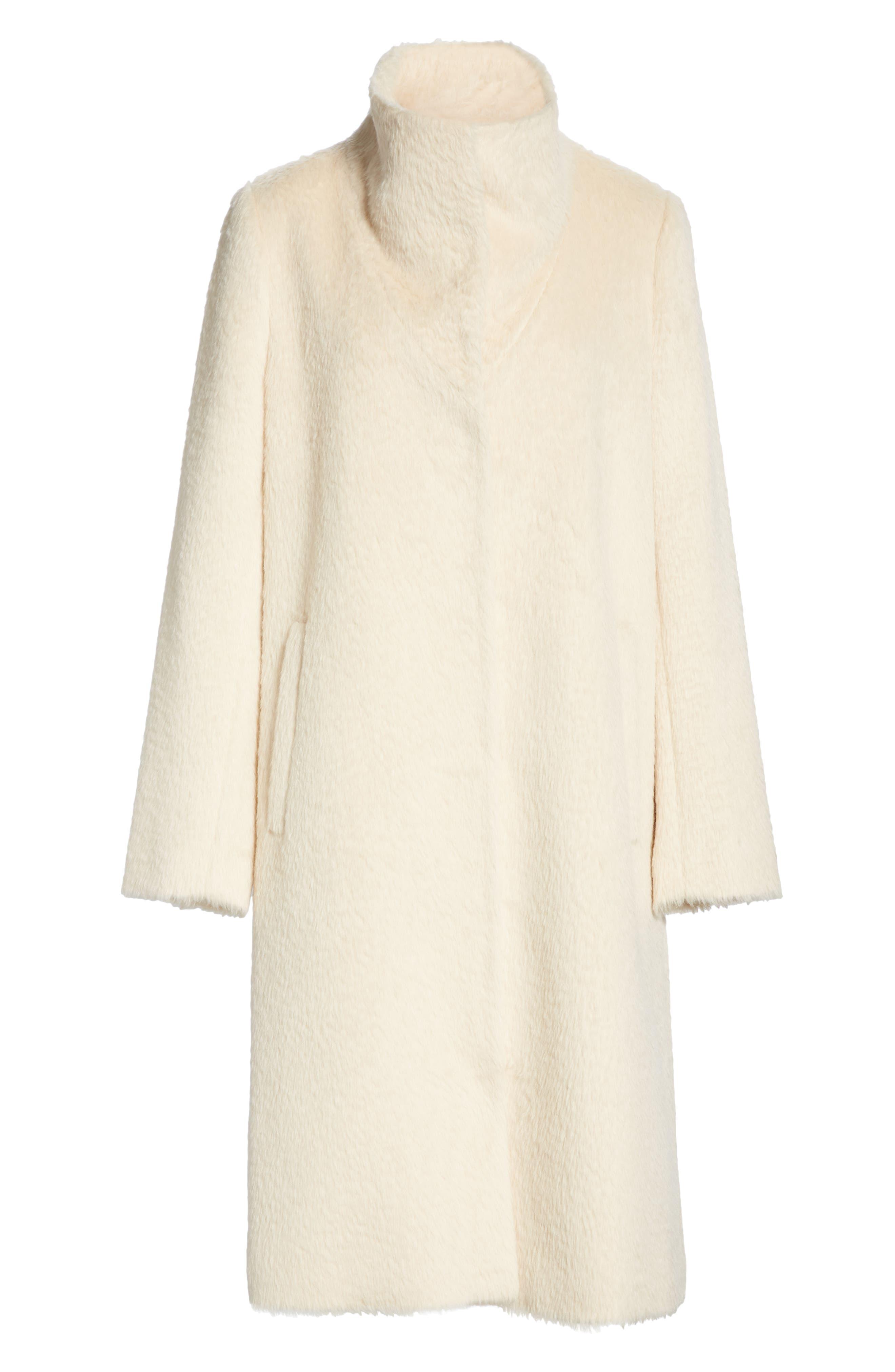 Alpaca Blend Long Coat,                             Alternate thumbnail 6, color,                             278