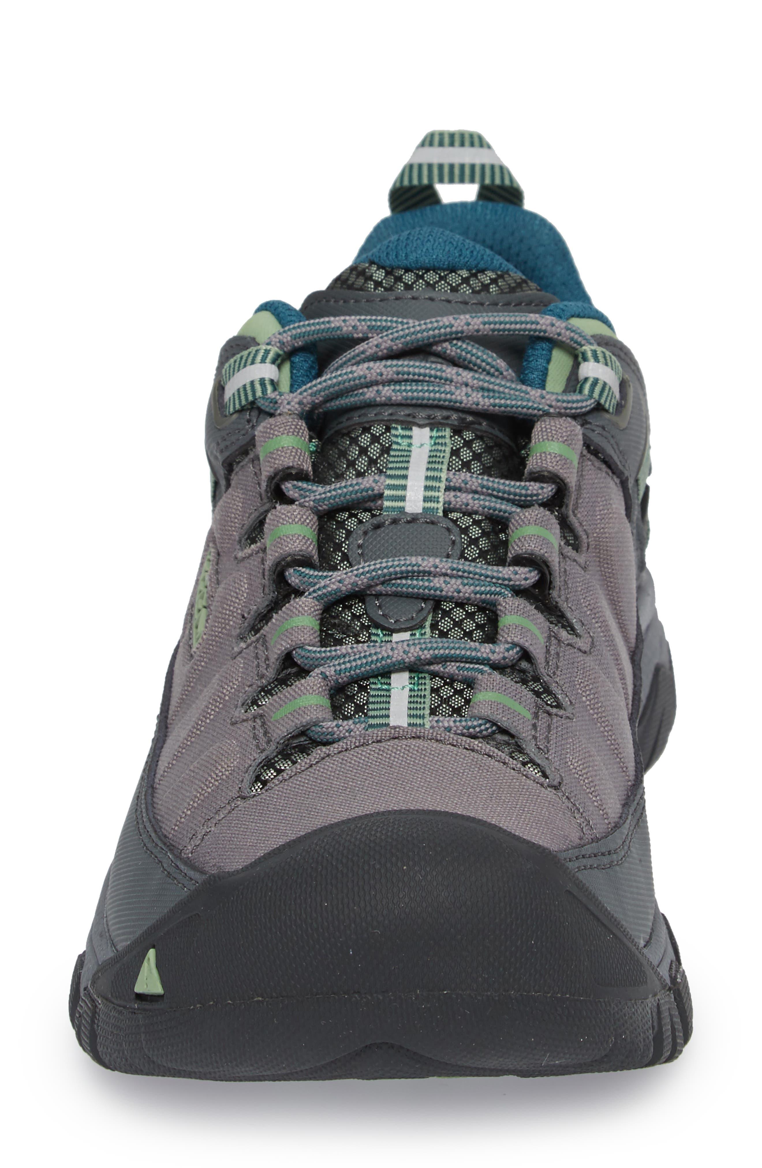 Targhee EXP Waterproof Hiking Shoe,                             Alternate thumbnail 4, color,                             STEEL GREY/ BASIL