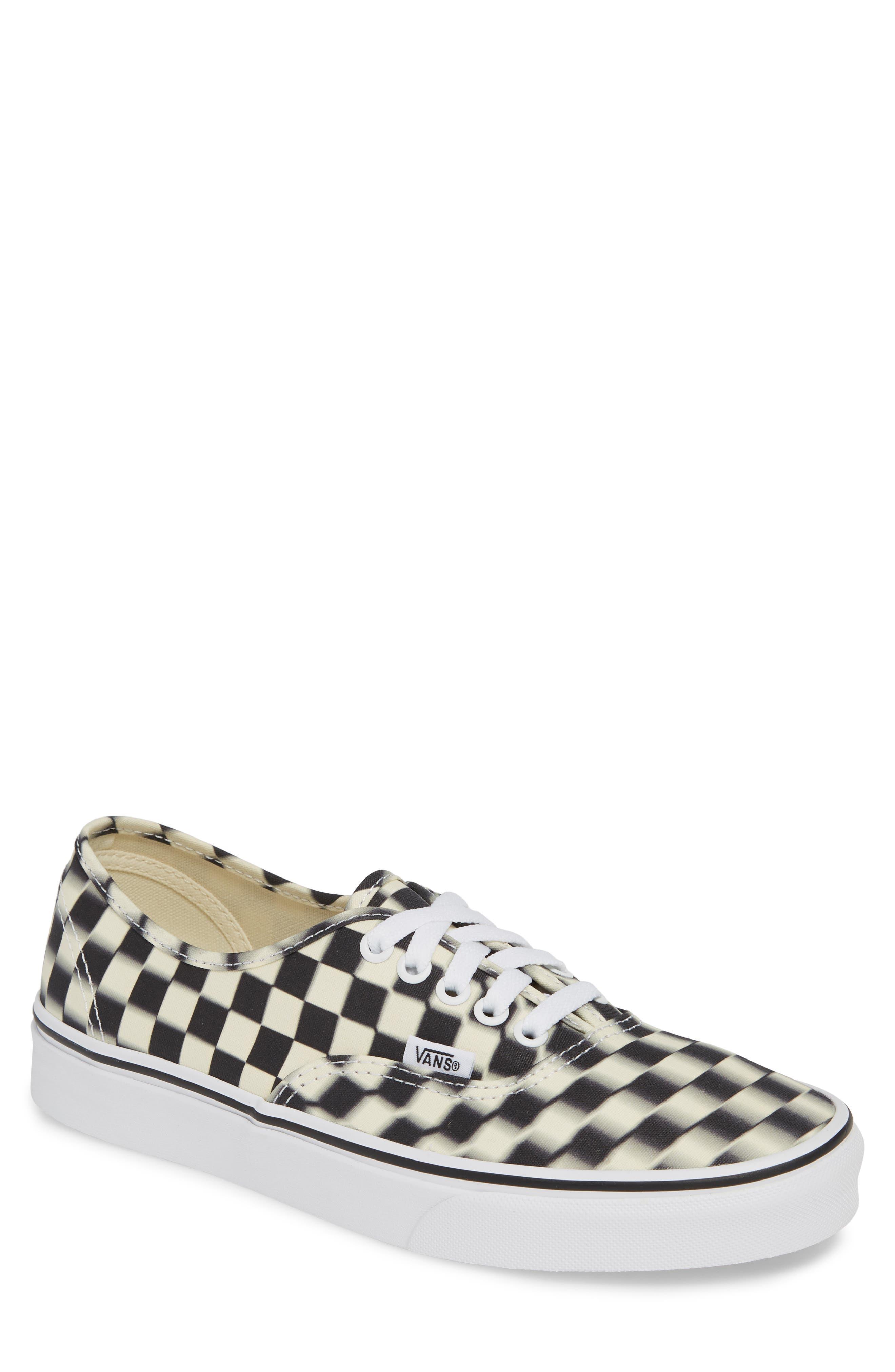 VANS UA Authentic Sneaker, Main, color, BLACK/ CLASSIC WHITE CHECK
