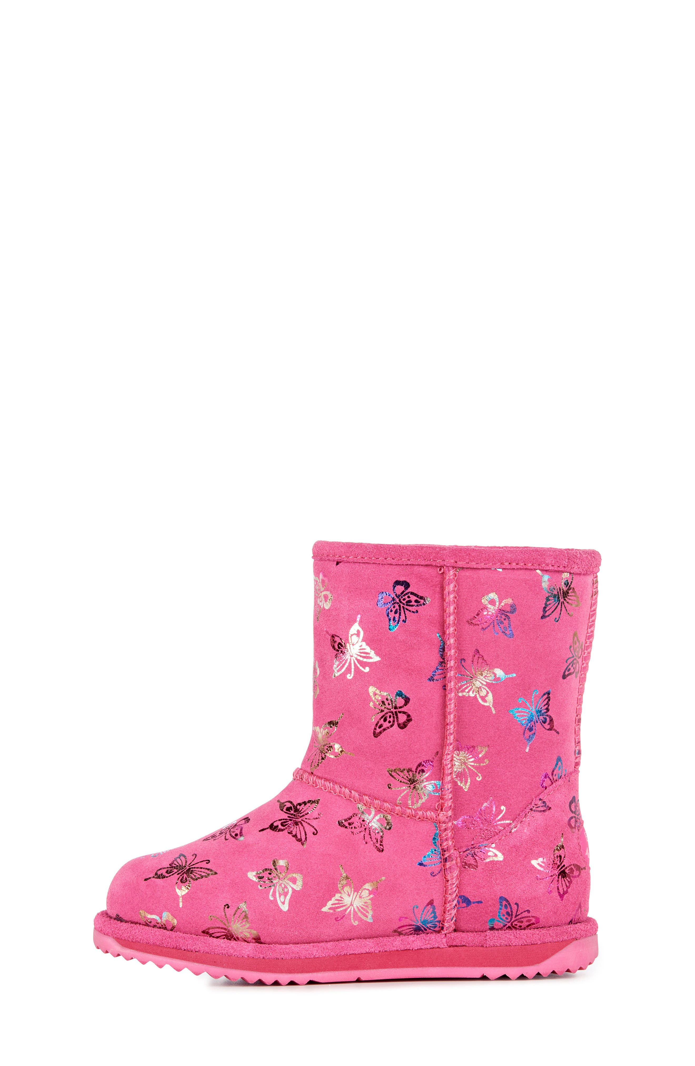 Animal Print Boots,                             Alternate thumbnail 6, color,                             HOT PINK
