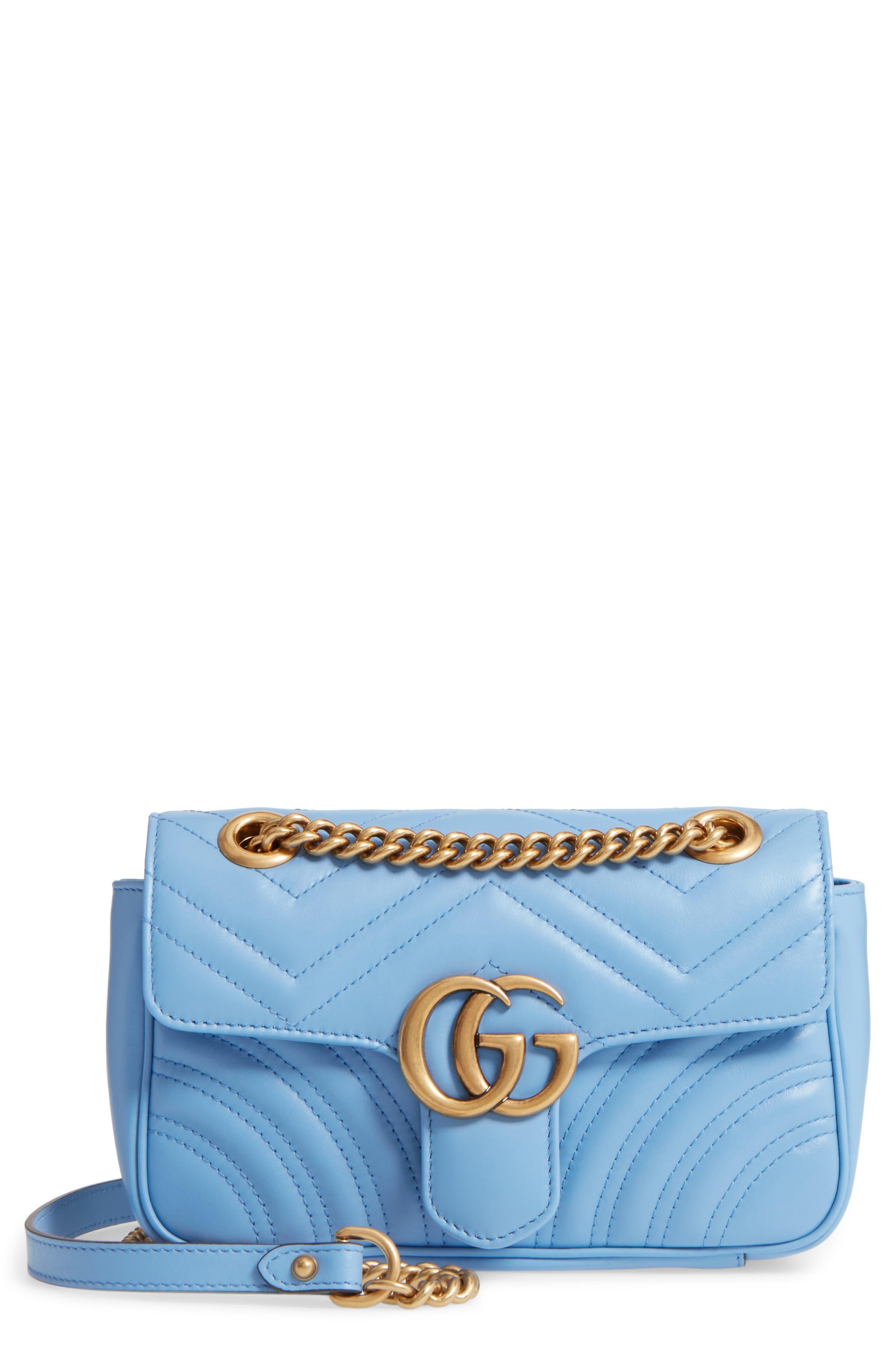 Mini GG Marmont 2.0 Matelassé Leather Shoulder Bag,                             Main thumbnail 1, color,                             452