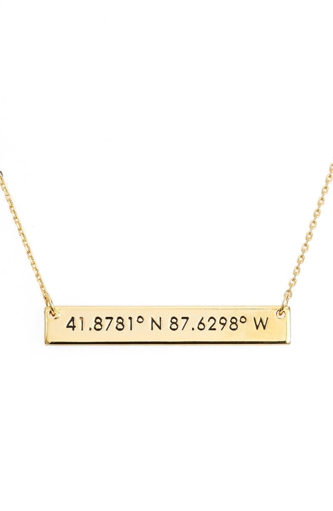 Coordinate Bar Pendant Necklace,                             Main thumbnail 5, color,