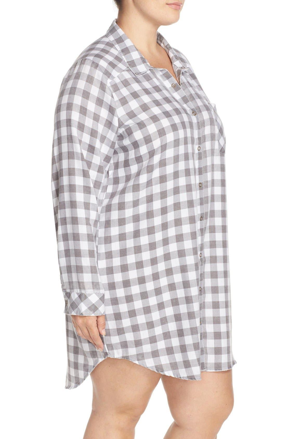 Plaid Night Shirt,                             Alternate thumbnail 22, color,