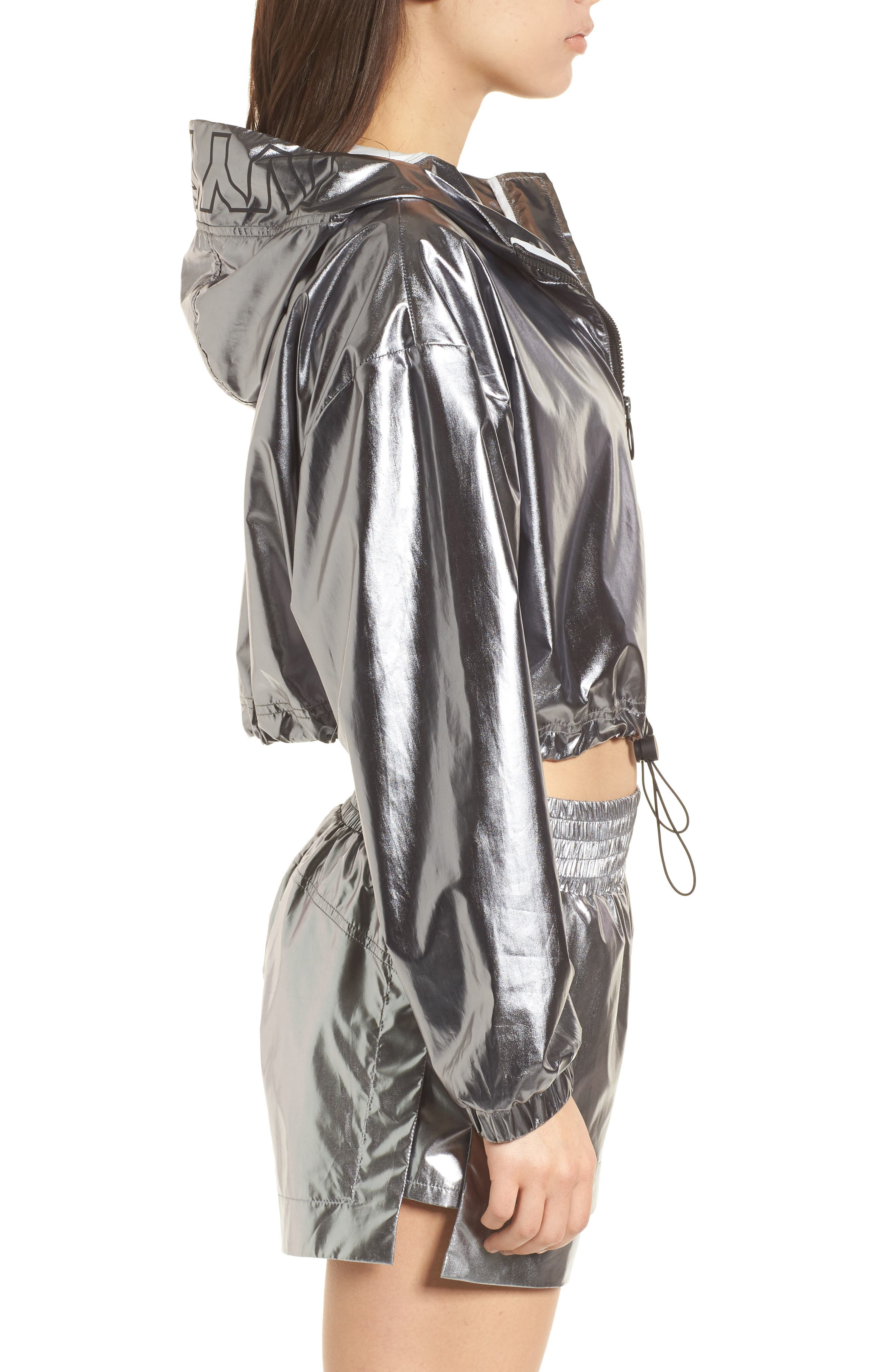 Metallic Crop Jacket,                             Alternate thumbnail 3, color,                             040