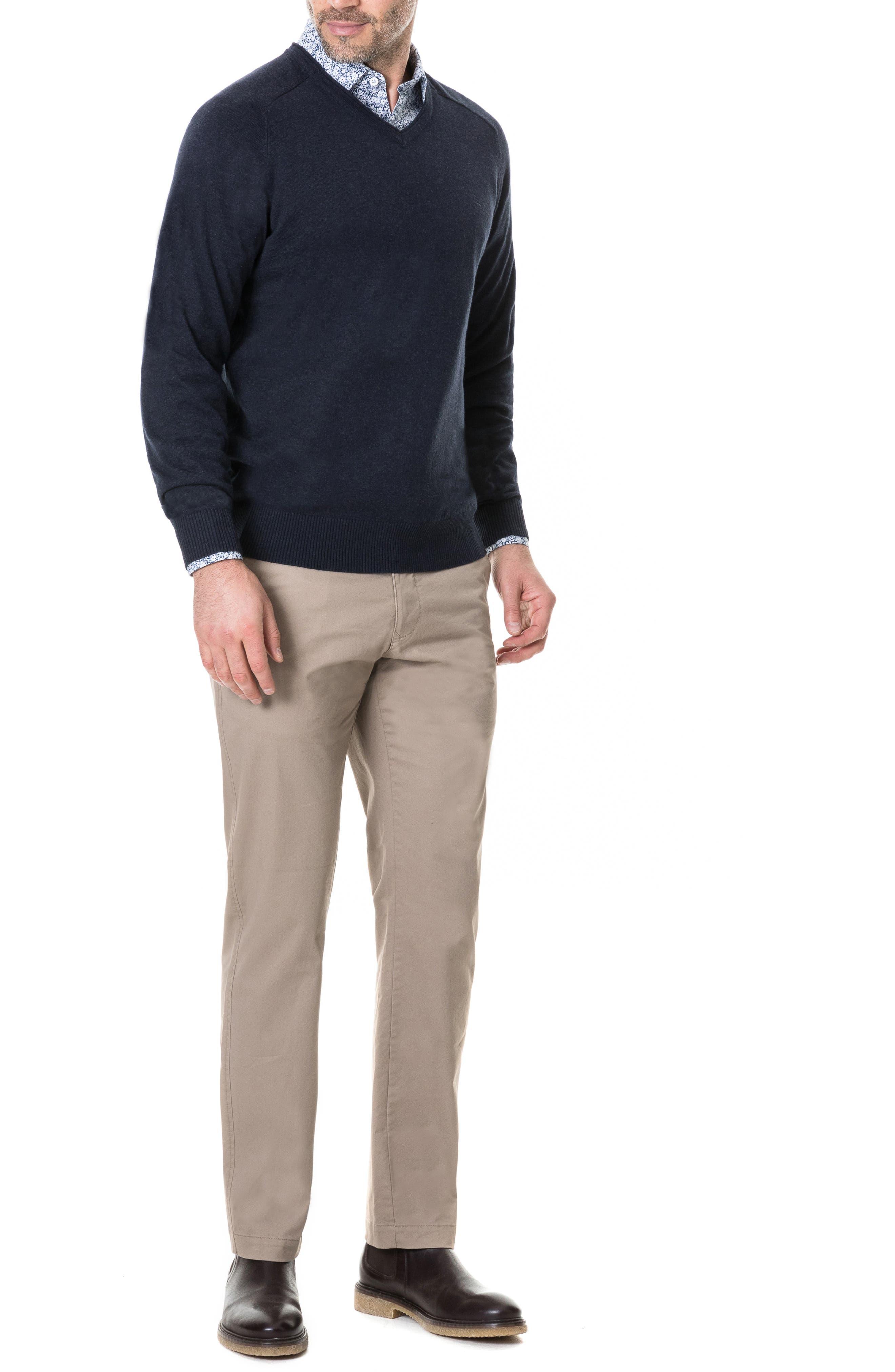 Arbors Cotton V-Neck Sweater,                             Alternate thumbnail 15, color,
