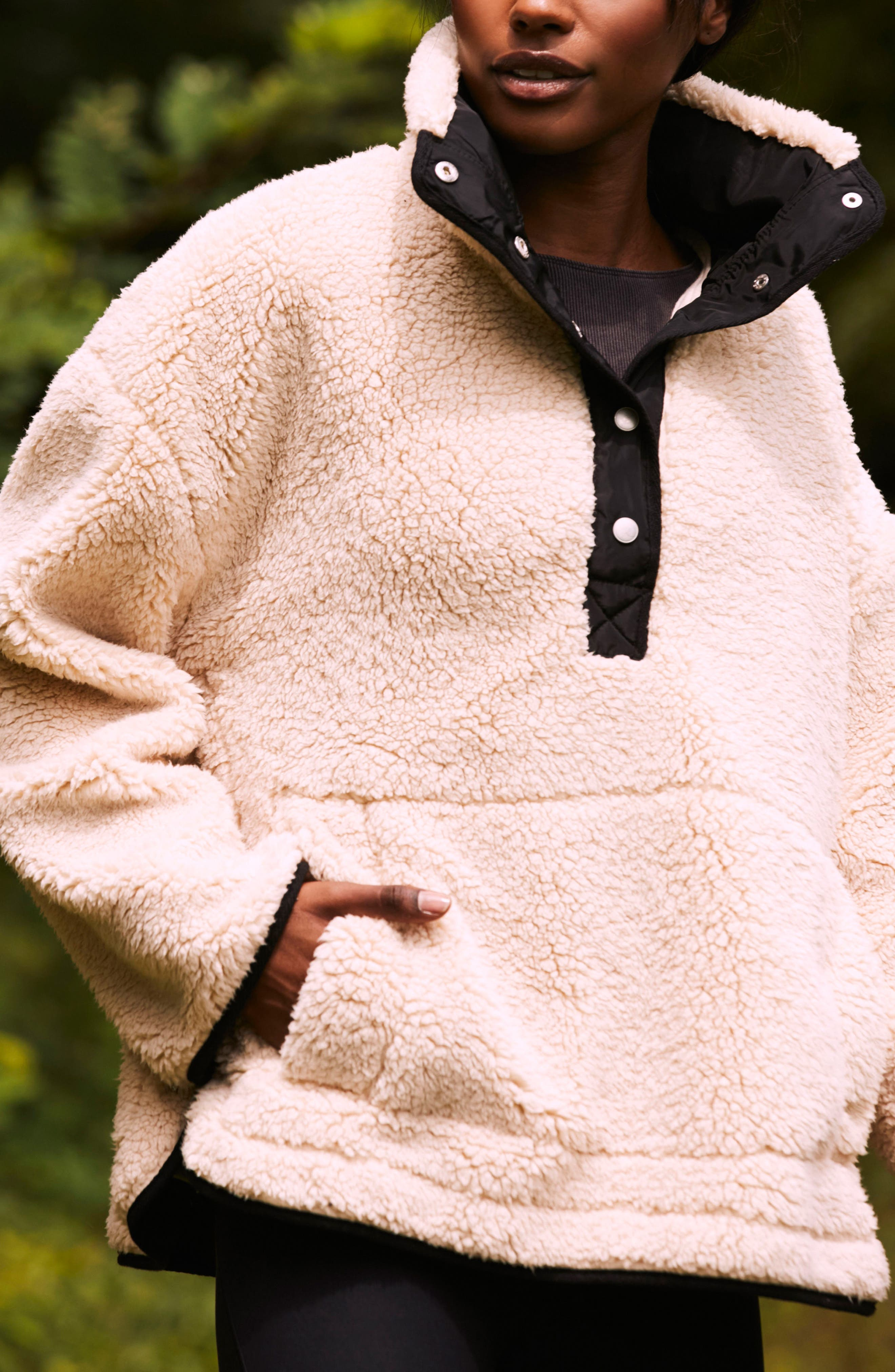 Free People Oh So Cozy Fleece Pullover,                             Alternate thumbnail 16, color,