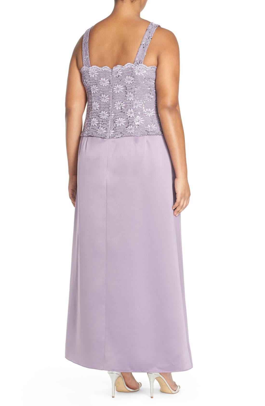 Alex Evening A-Line Gown & Lace Jacket,                             Alternate thumbnail 10, color,