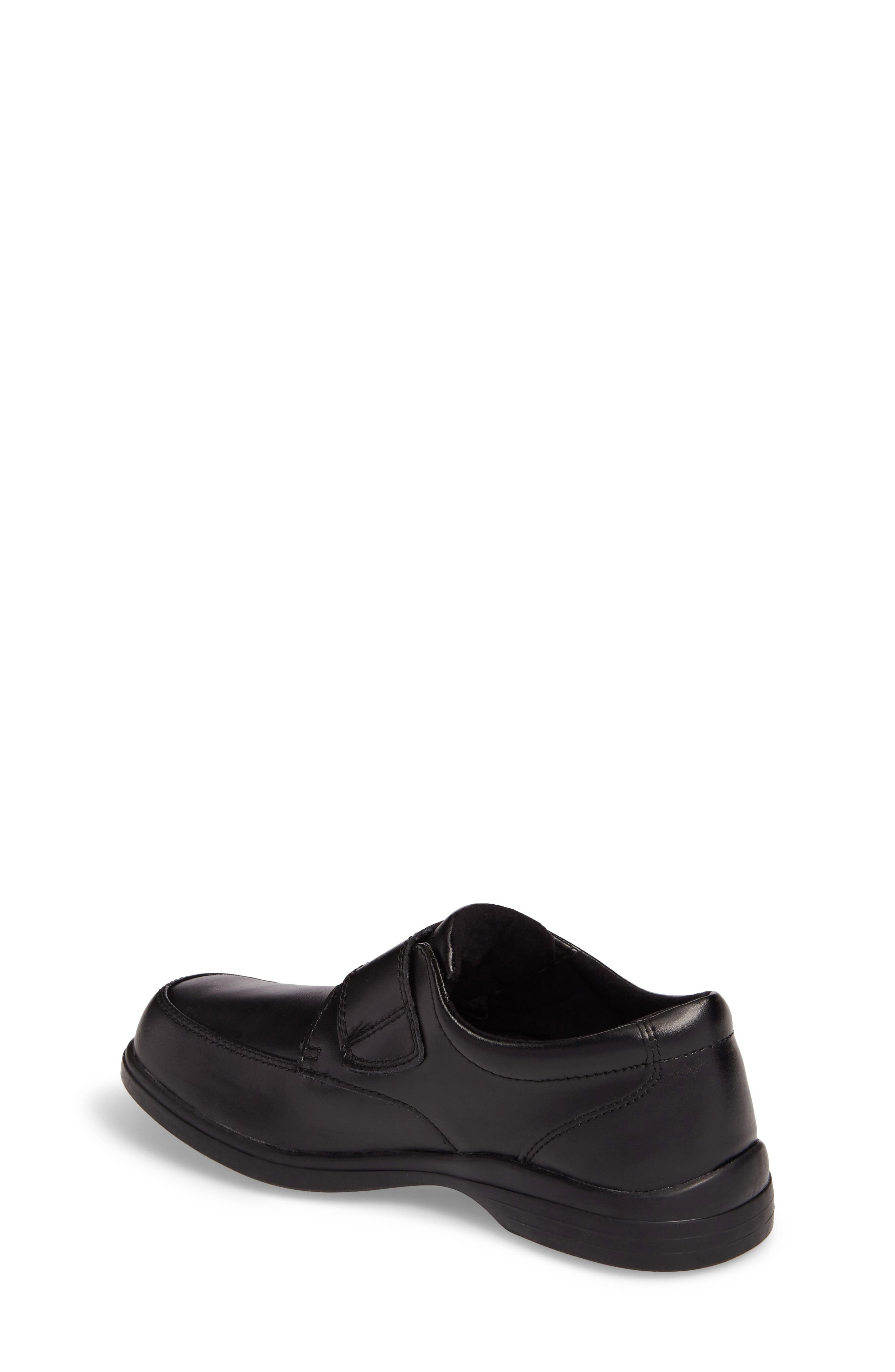 Hush Puppies Gavin Front Strap Dress Shoe,                             Alternate thumbnail 2, color,                             BLACK LEATHER