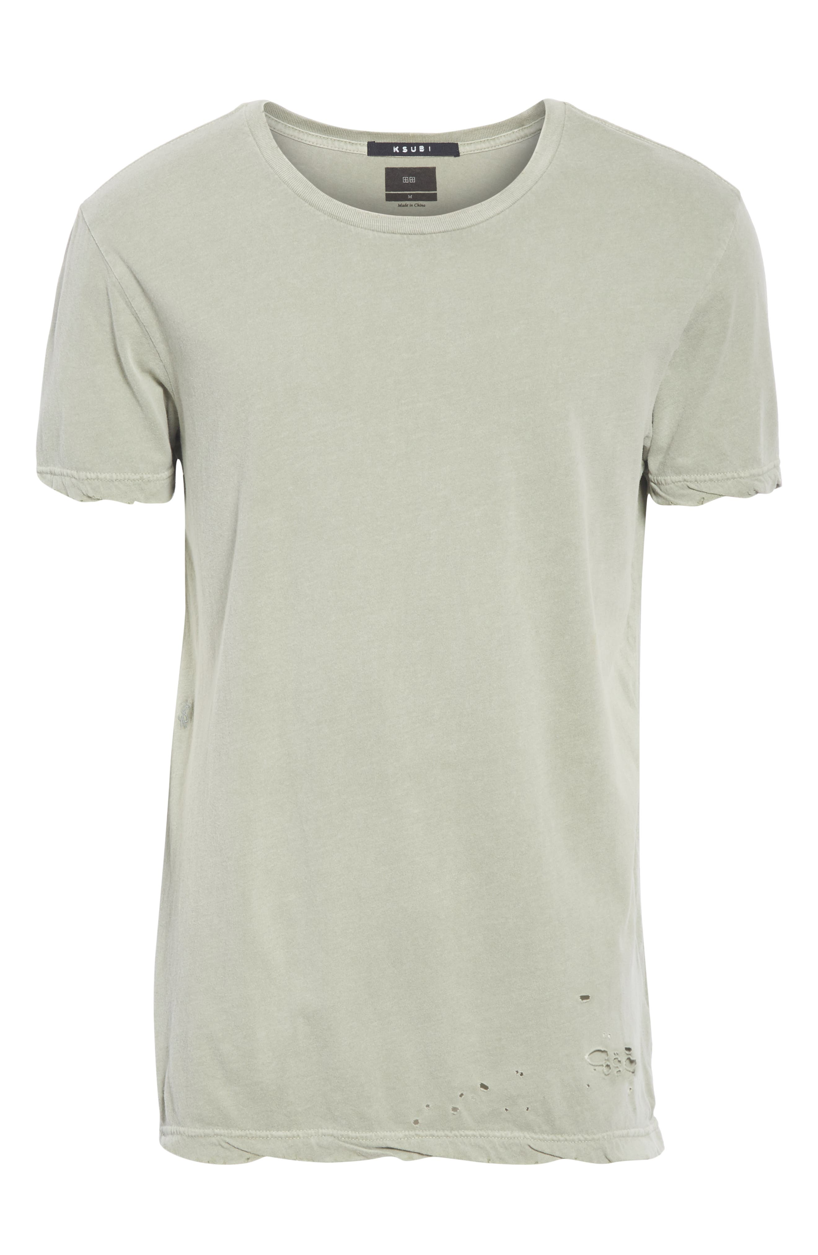 Sioux Distressed T-Shirt,                             Alternate thumbnail 6, color,                             GREEN