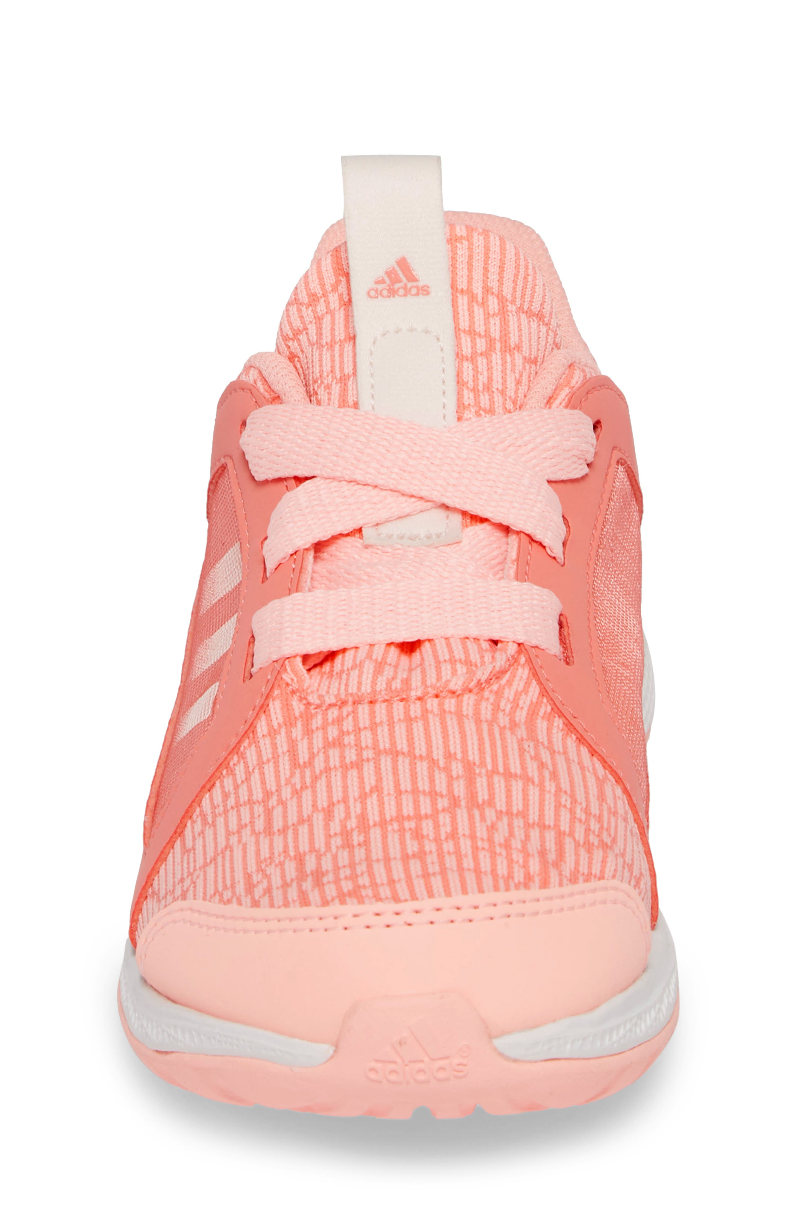 Edge Lux Running Shoe,                             Alternate thumbnail 4, color,                             CHALK CORAL/ WHITE/ ORANGE