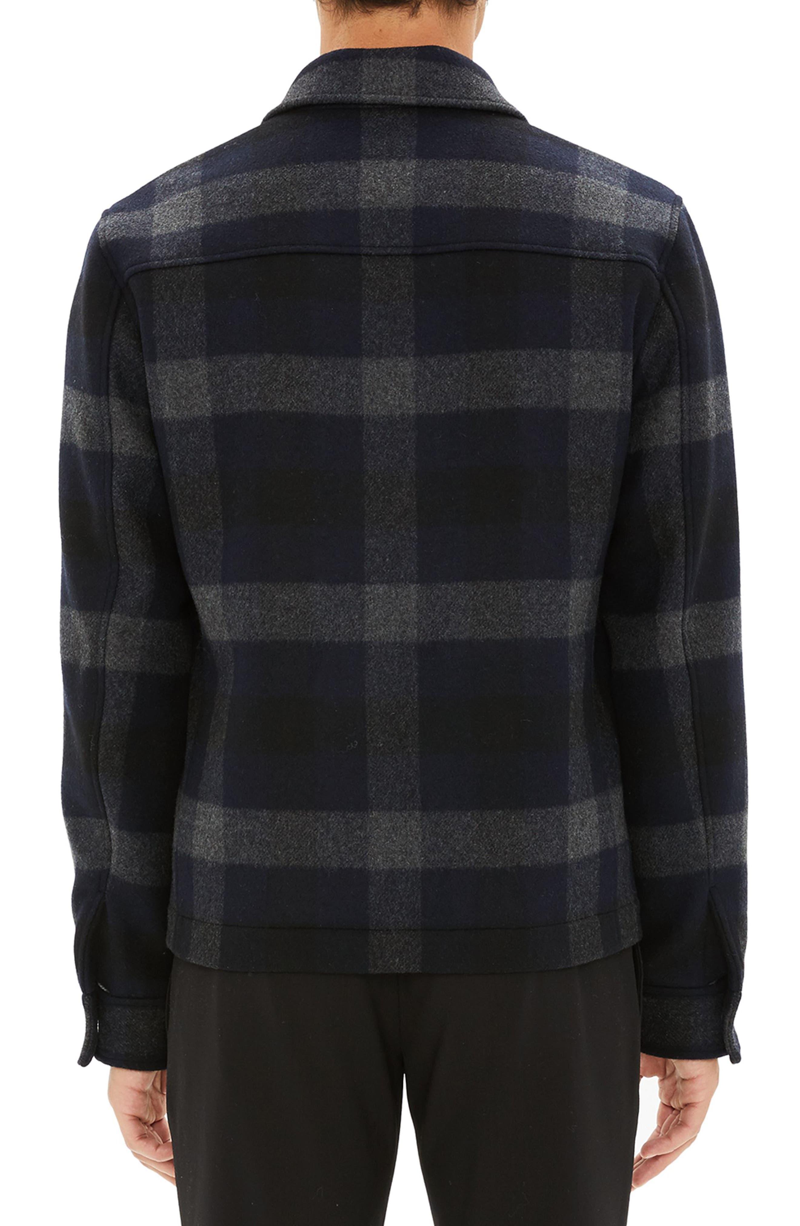 Wyatt Regular Fit Plaid Wool Shirt Jacket,                             Alternate thumbnail 2, color,                             017