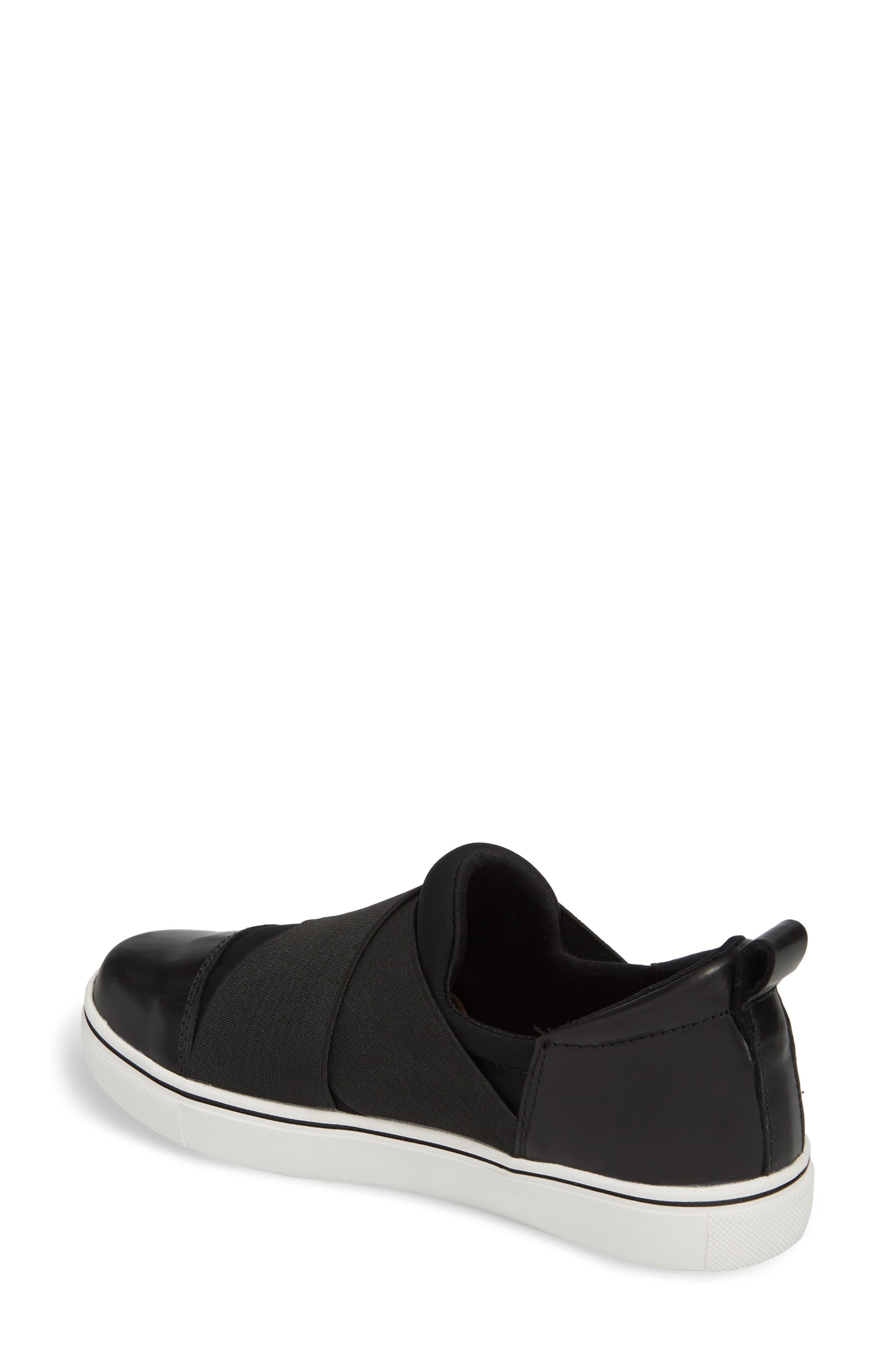 Elmwood Slip-On Sneaker,                             Alternate thumbnail 2, color,                             BLACK LEATHER
