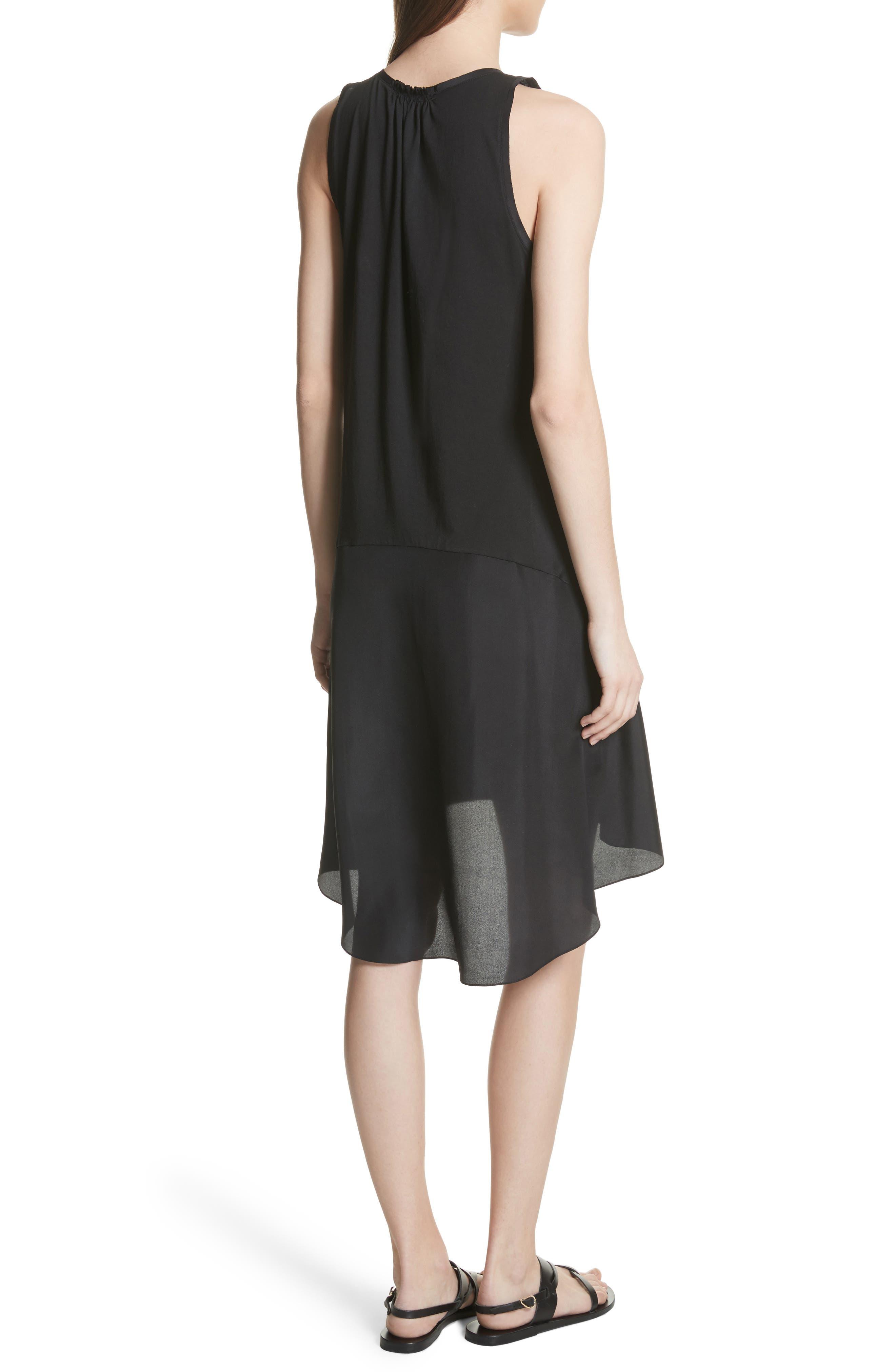 Plume Jersey Scoop Neck Swing Dress,                             Alternate thumbnail 2, color,                             001