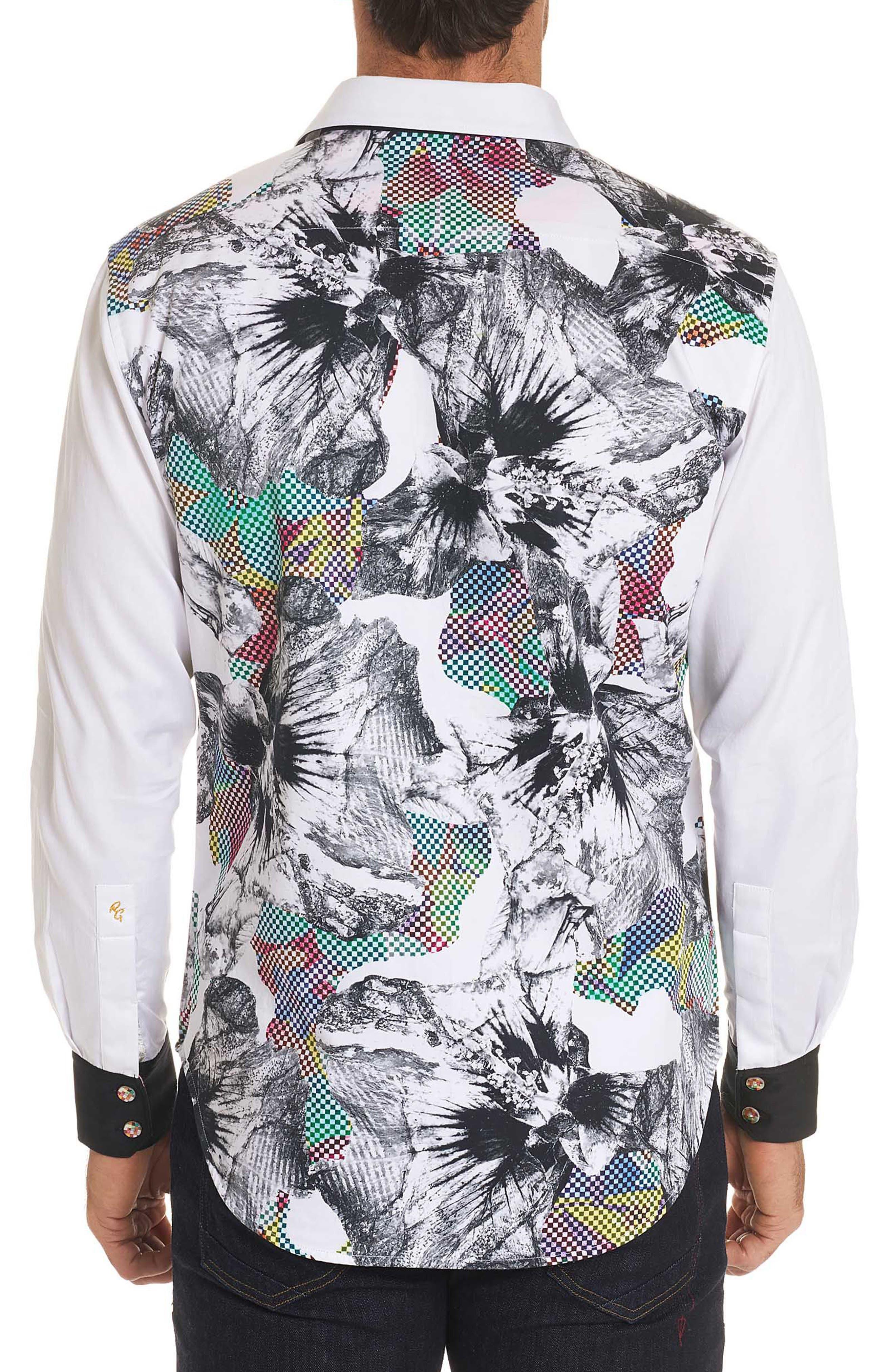 Corporal Classic Fit Floral Sport Shirt,                             Alternate thumbnail 2, color,                             100