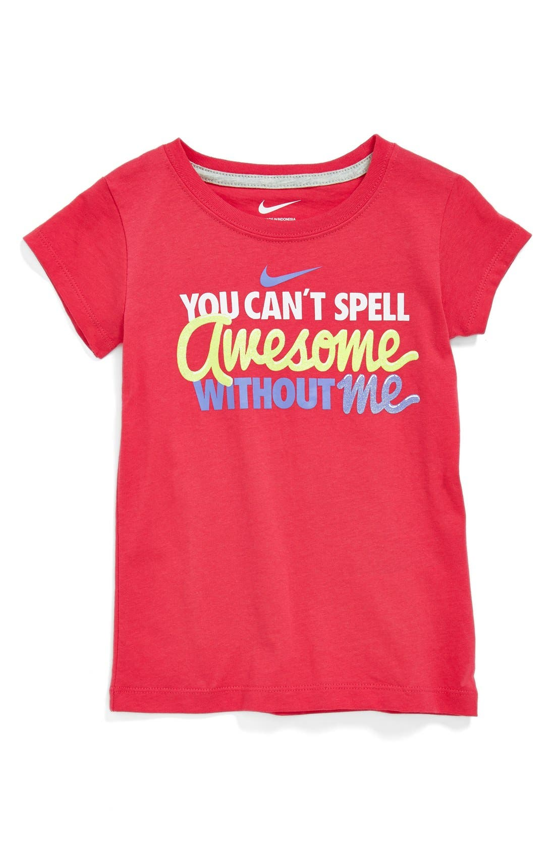 NIKE,                             'You Can't Spell Awesome Without Me' Tee,                             Main thumbnail 1, color,                             655