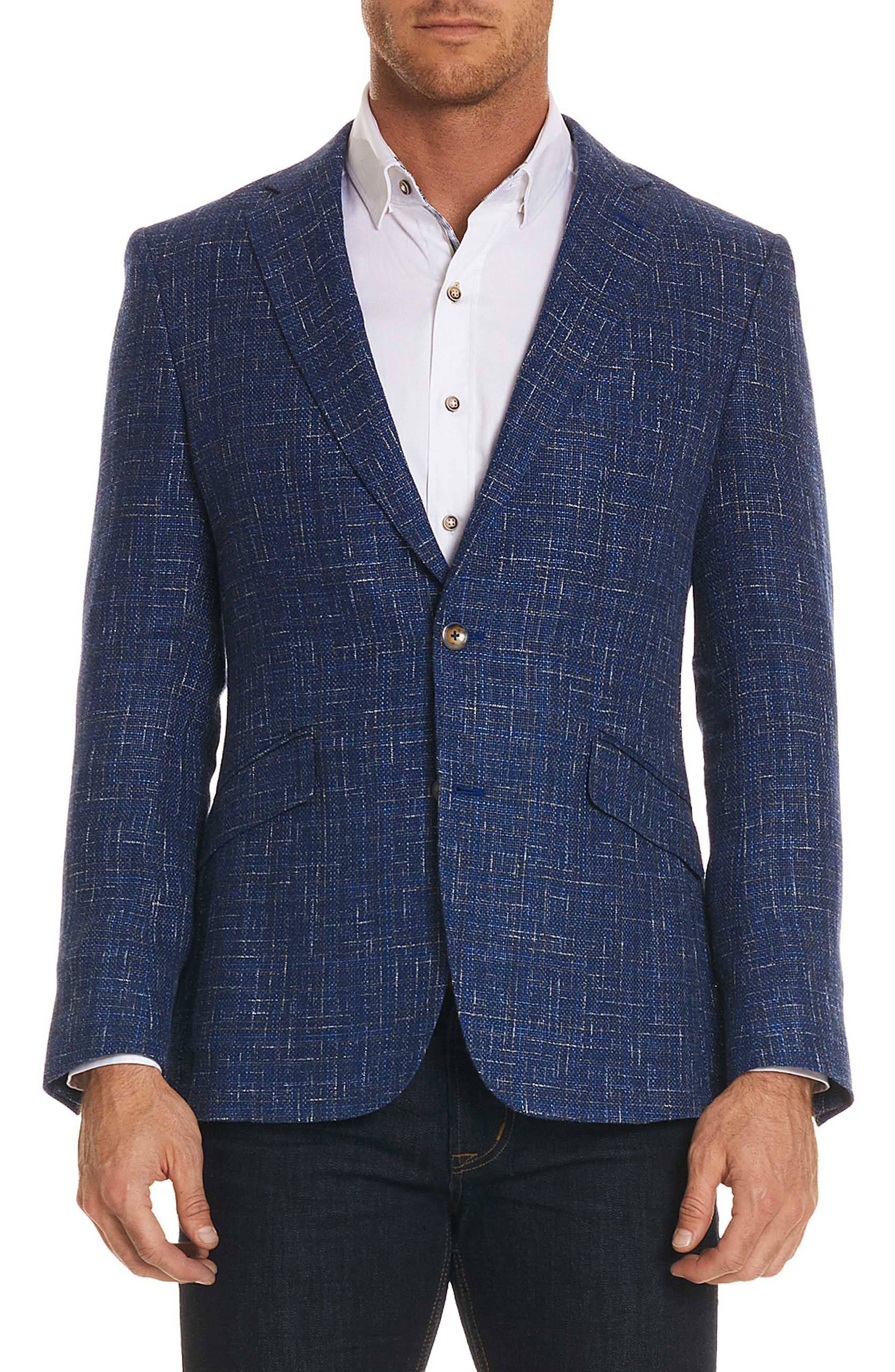 Jeremy Tailored Fit Sportcoat,                             Main thumbnail 1, color,                             BLUE