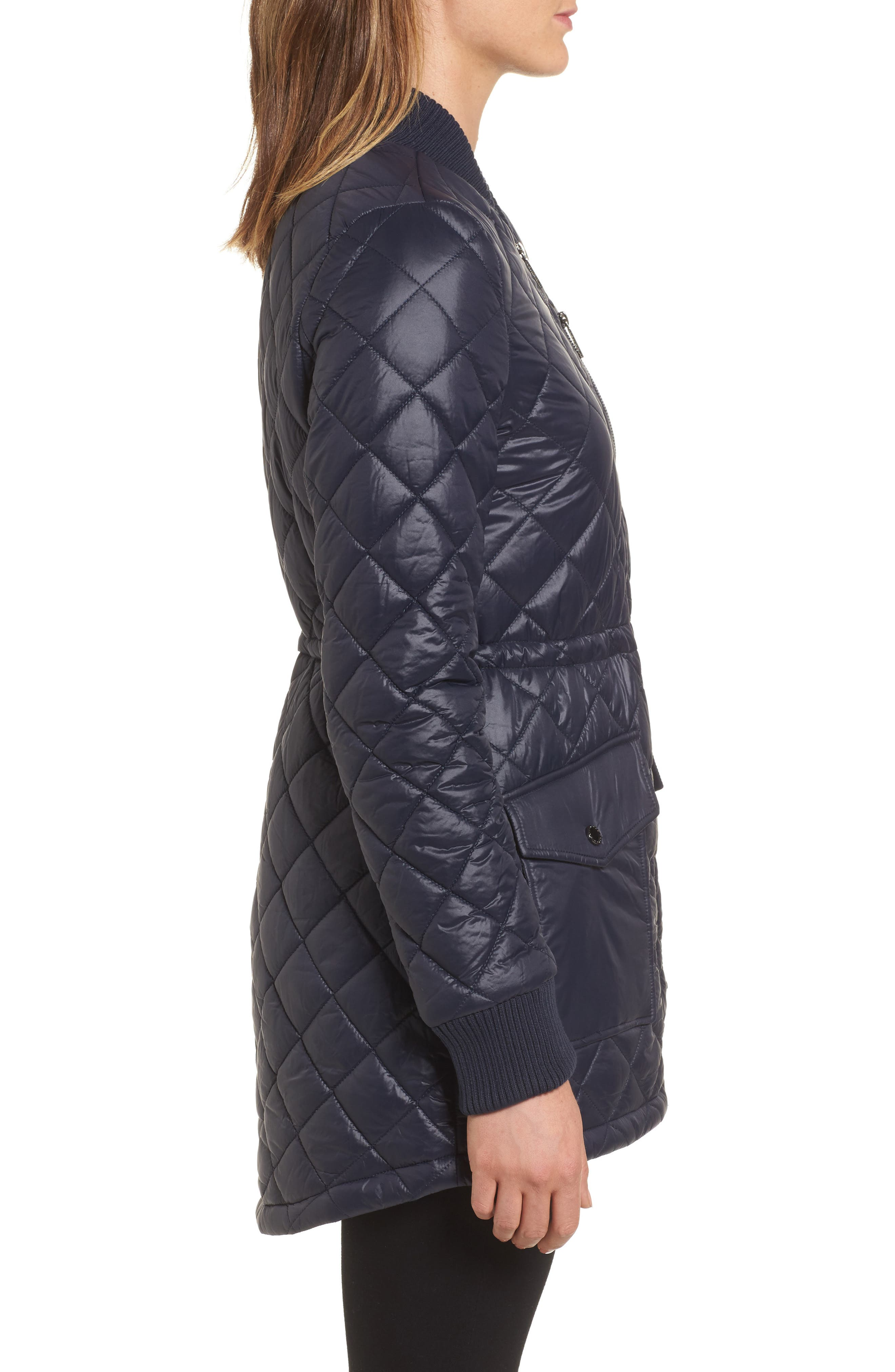 Quilted Anorak Jacket,                             Alternate thumbnail 9, color,