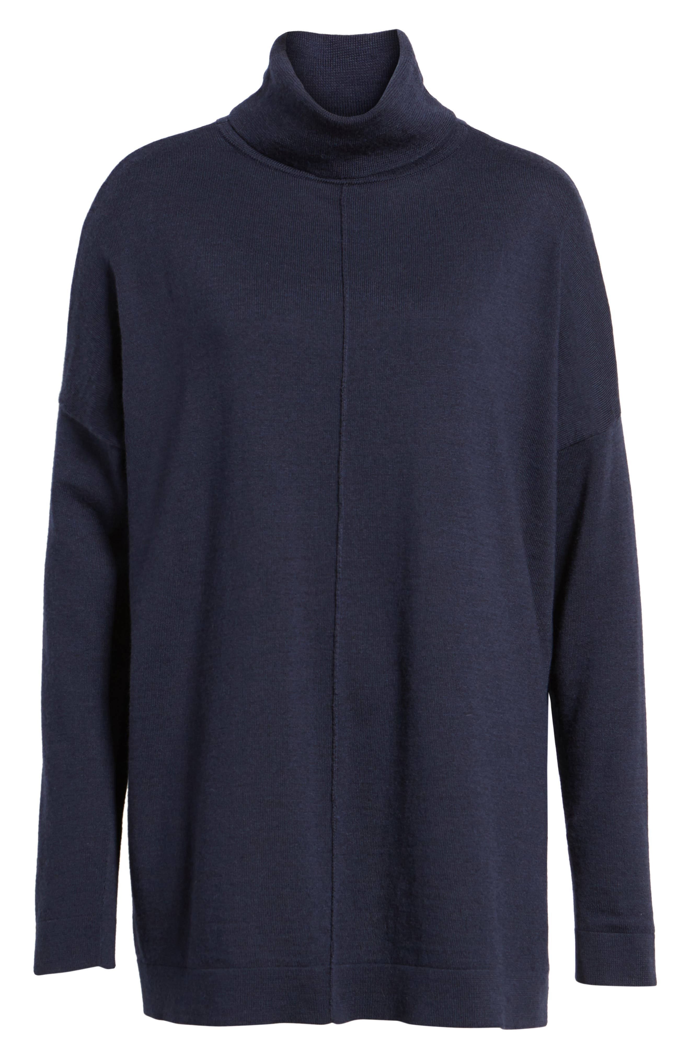 Merino Wool Boxy Turtleneck Sweater,                             Alternate thumbnail 33, color,