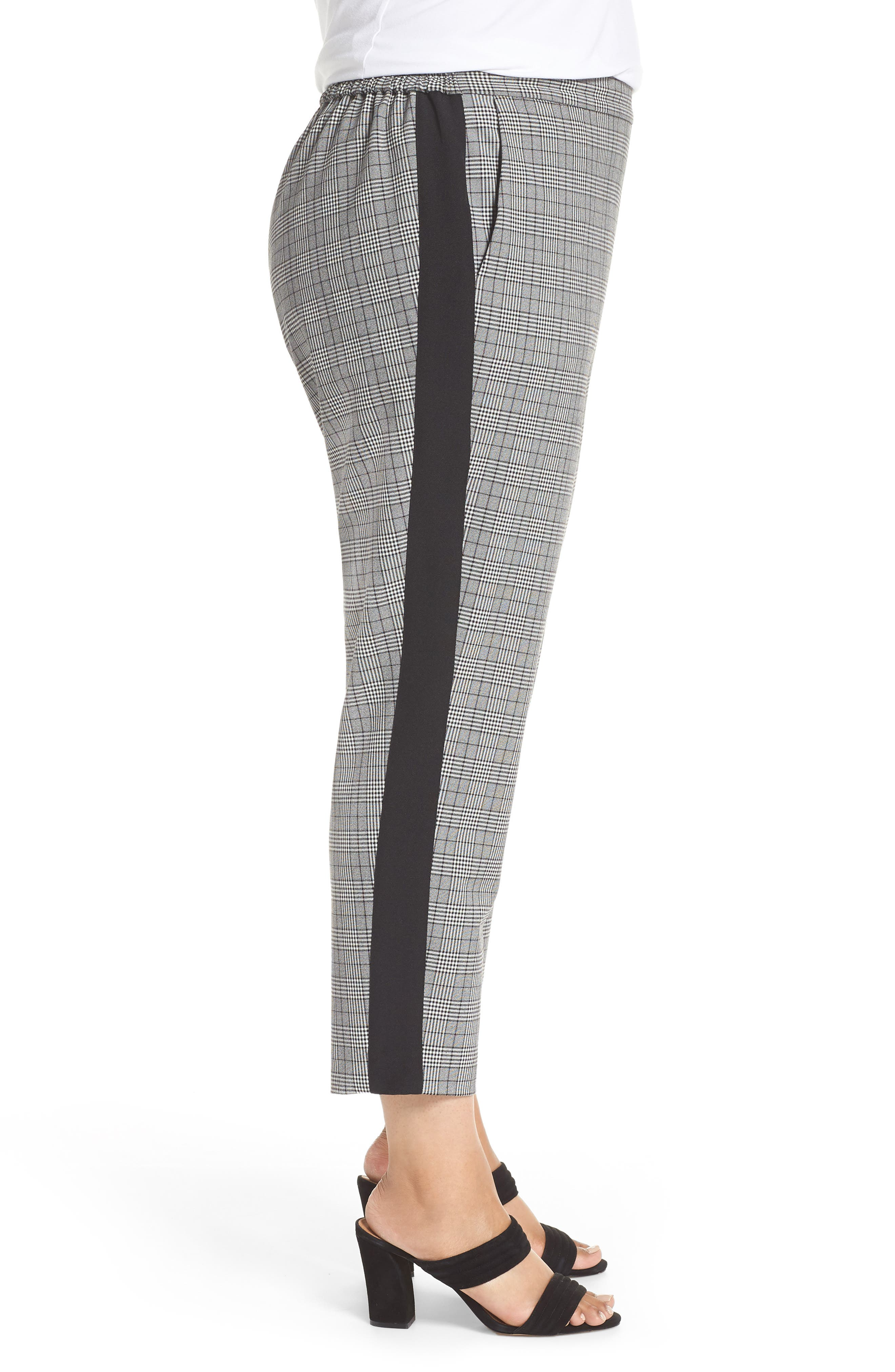 Menswear Crop Pants,                             Alternate thumbnail 3, color,                             HEATHER GREY COMBO