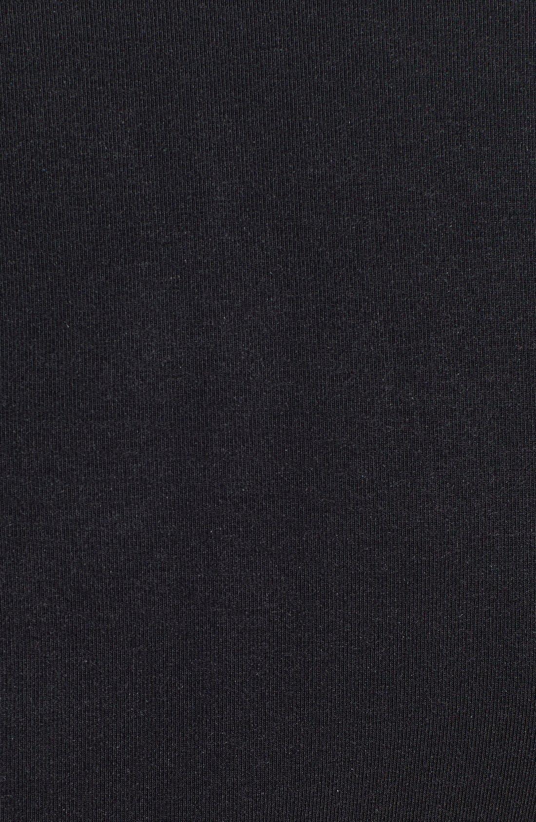 Side Zip Long Sleeve Top,                             Alternate thumbnail 2, color,                             001