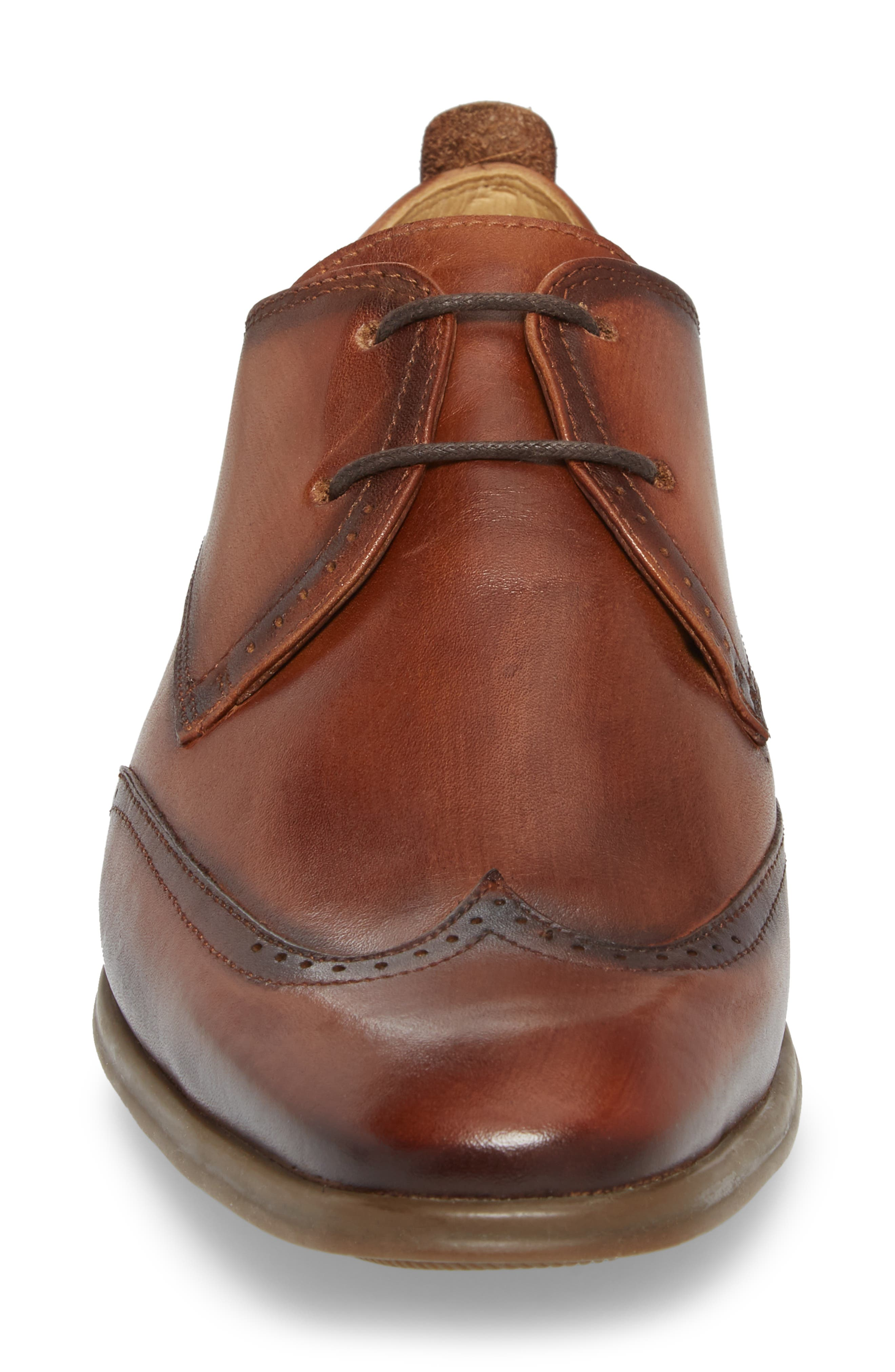 Ben Wingtip Derby,                             Alternate thumbnail 4, color,                             TOUCH BRONZE BRUSHED LEATHER