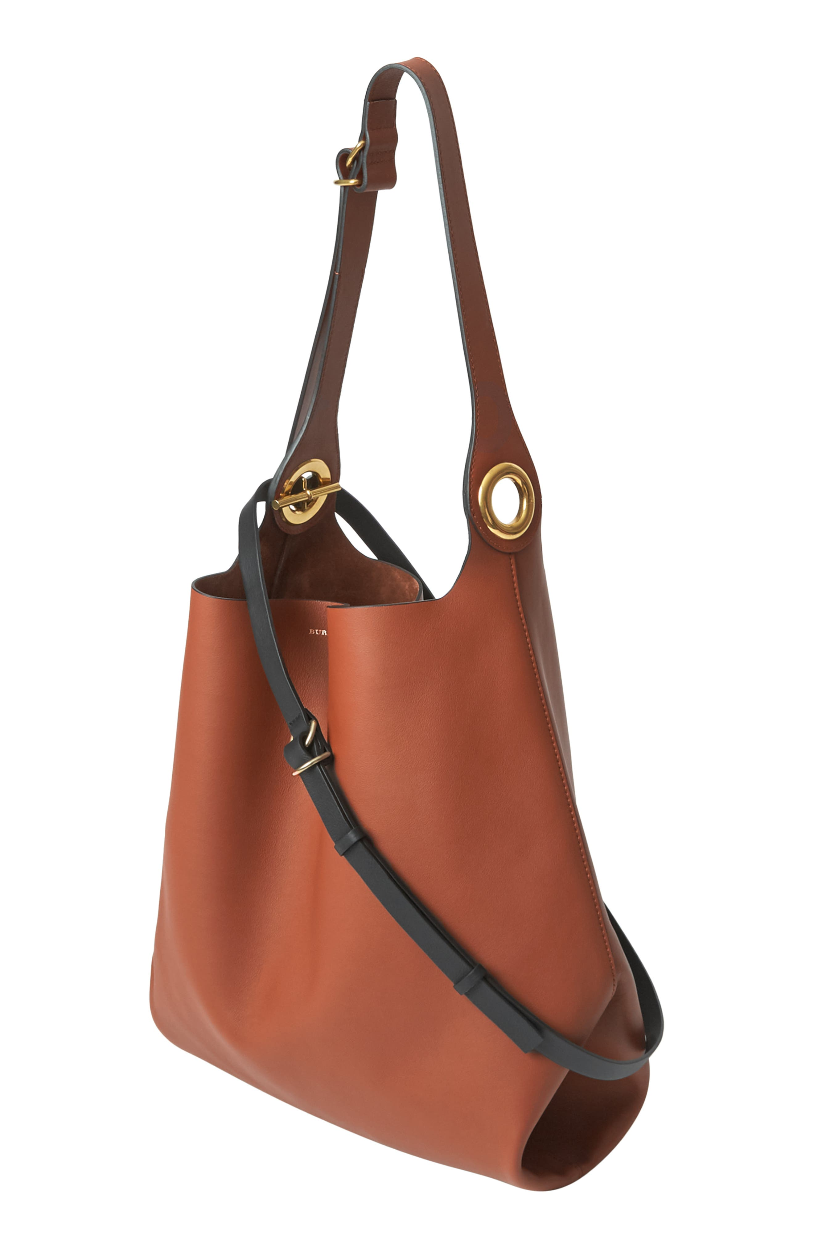 Grommet Medium Leather Hobo,                             Alternate thumbnail 6, color,                             216