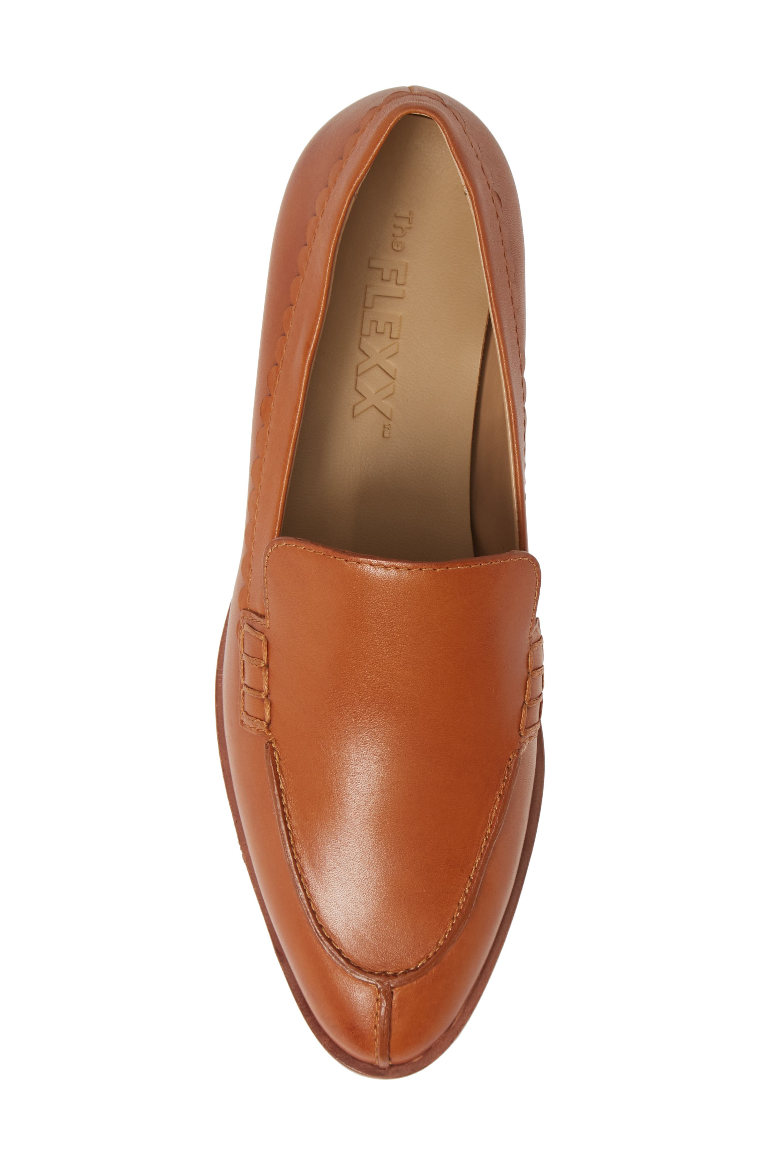Bowery Loafer,                             Alternate thumbnail 5, color,                             COCONUT VACHETTA LEATHER