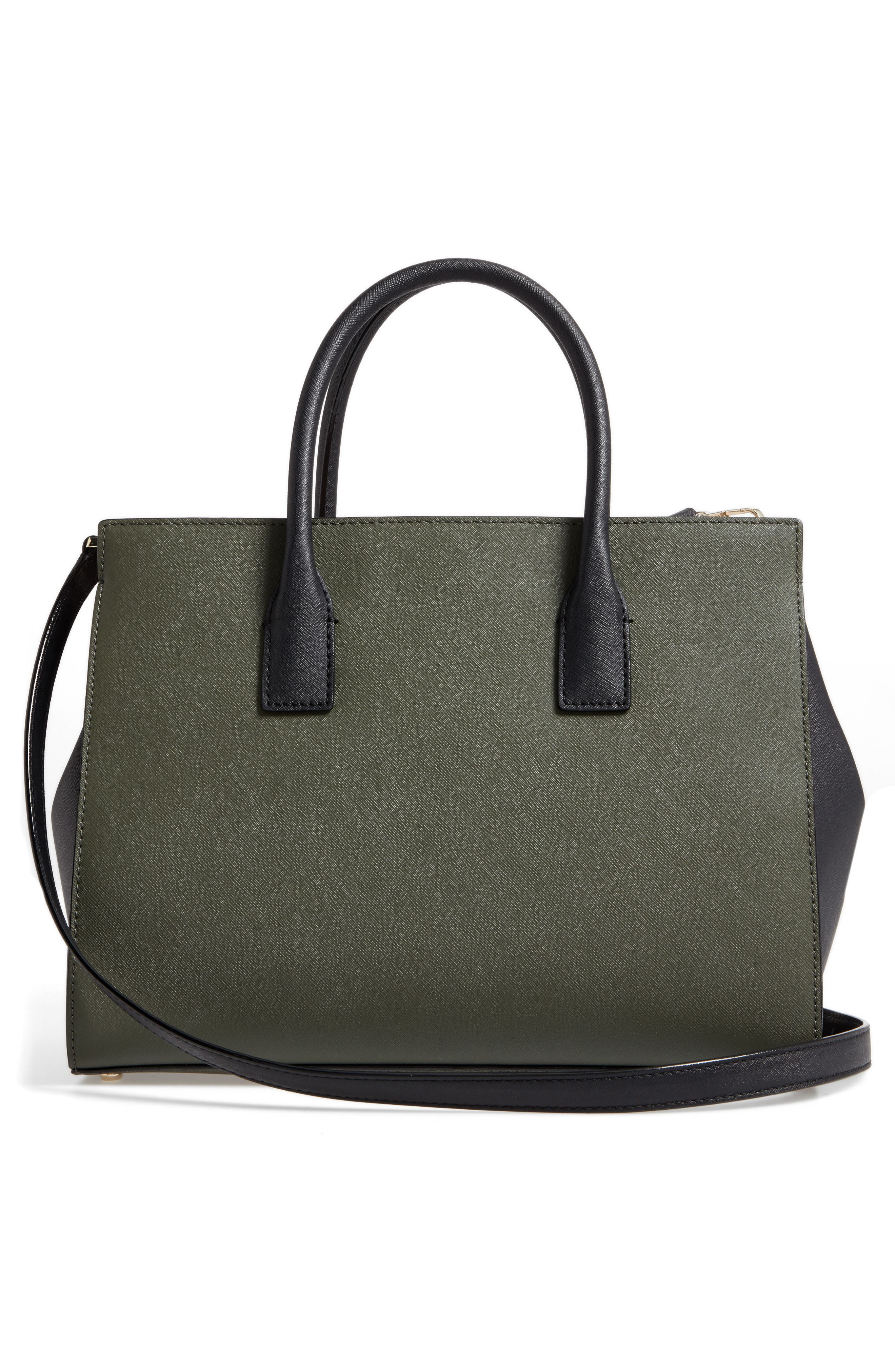 cameron street - candace leather satchel,                             Alternate thumbnail 3, color,                             301