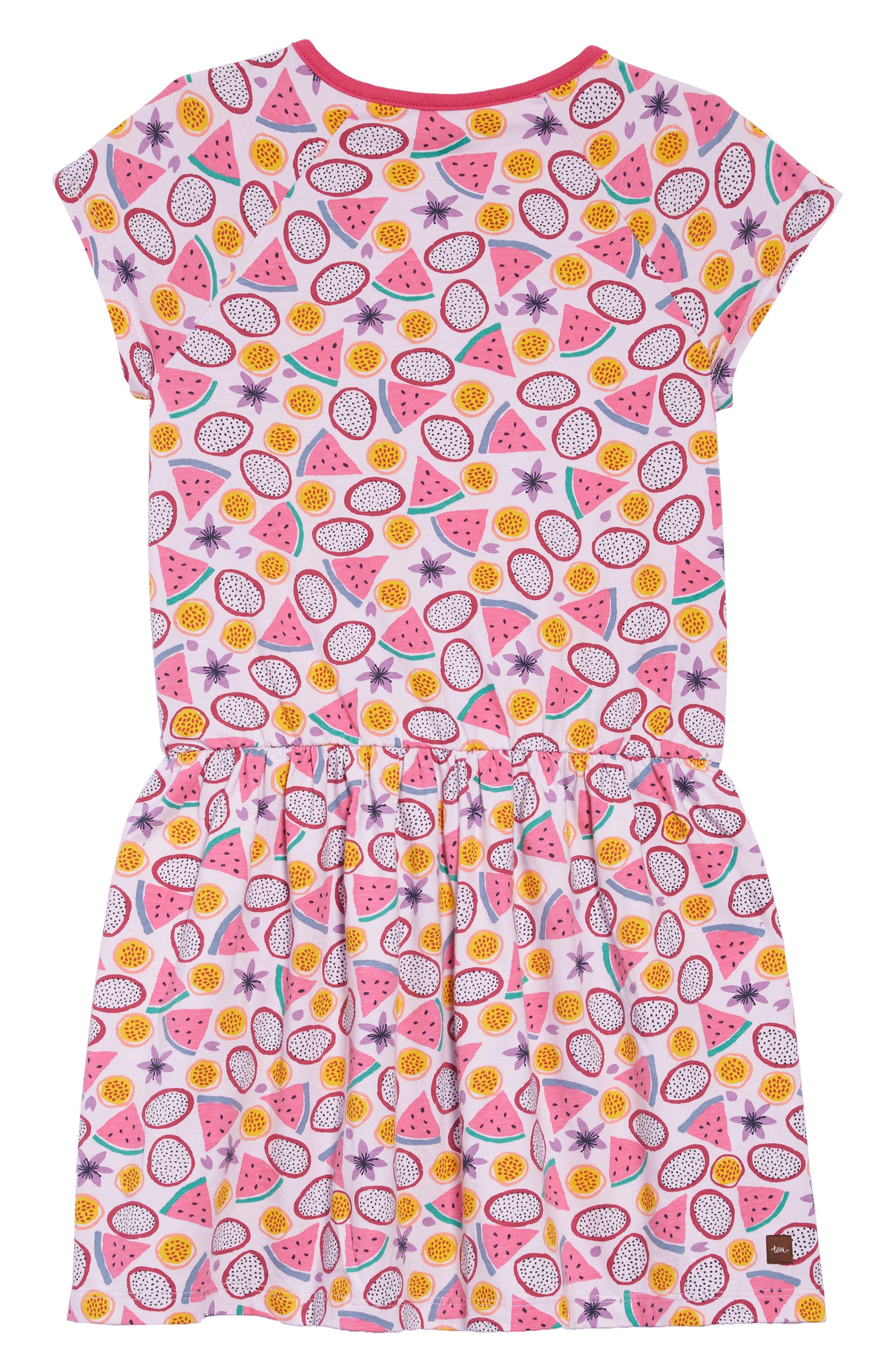 TEA COLLECTION,                             Tropical Fruit Raglan Dress,                             Alternate thumbnail 2, color,                             TROPICAL TOSS