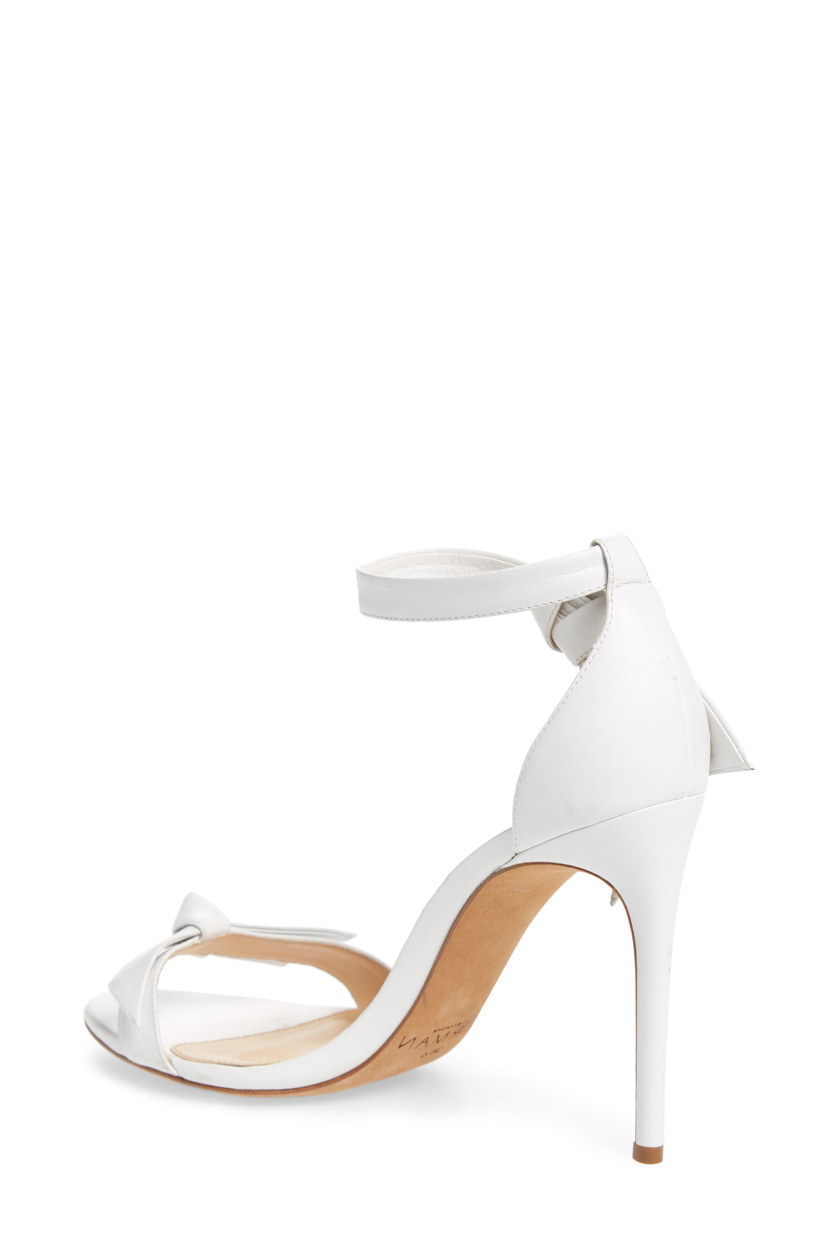 'Clarita' Ankle Tie Sandal,                             Alternate thumbnail 2, color,                             WHITE LEATHER