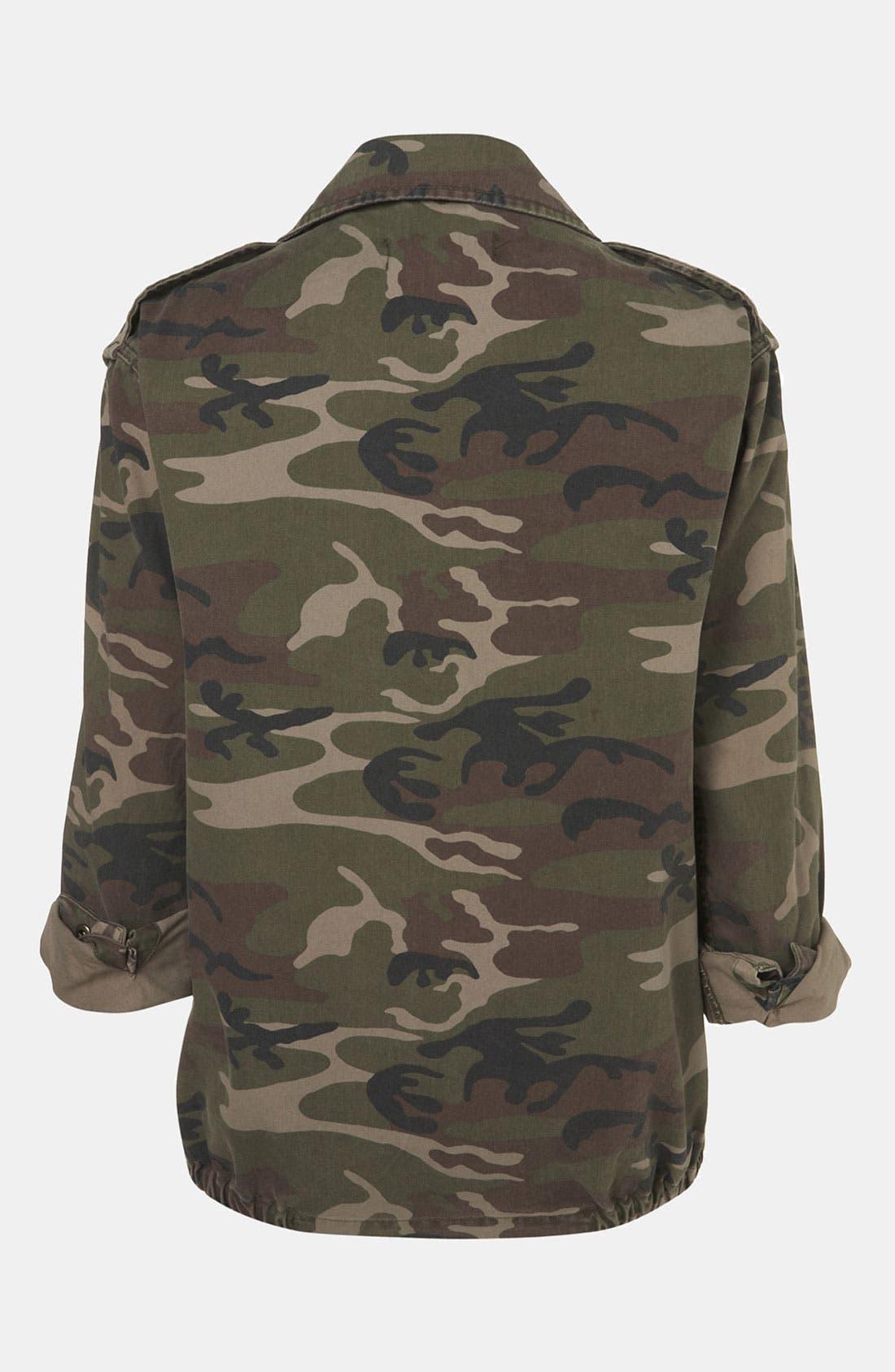 Studded Camo Jacket,                             Alternate thumbnail 3, color,                             300