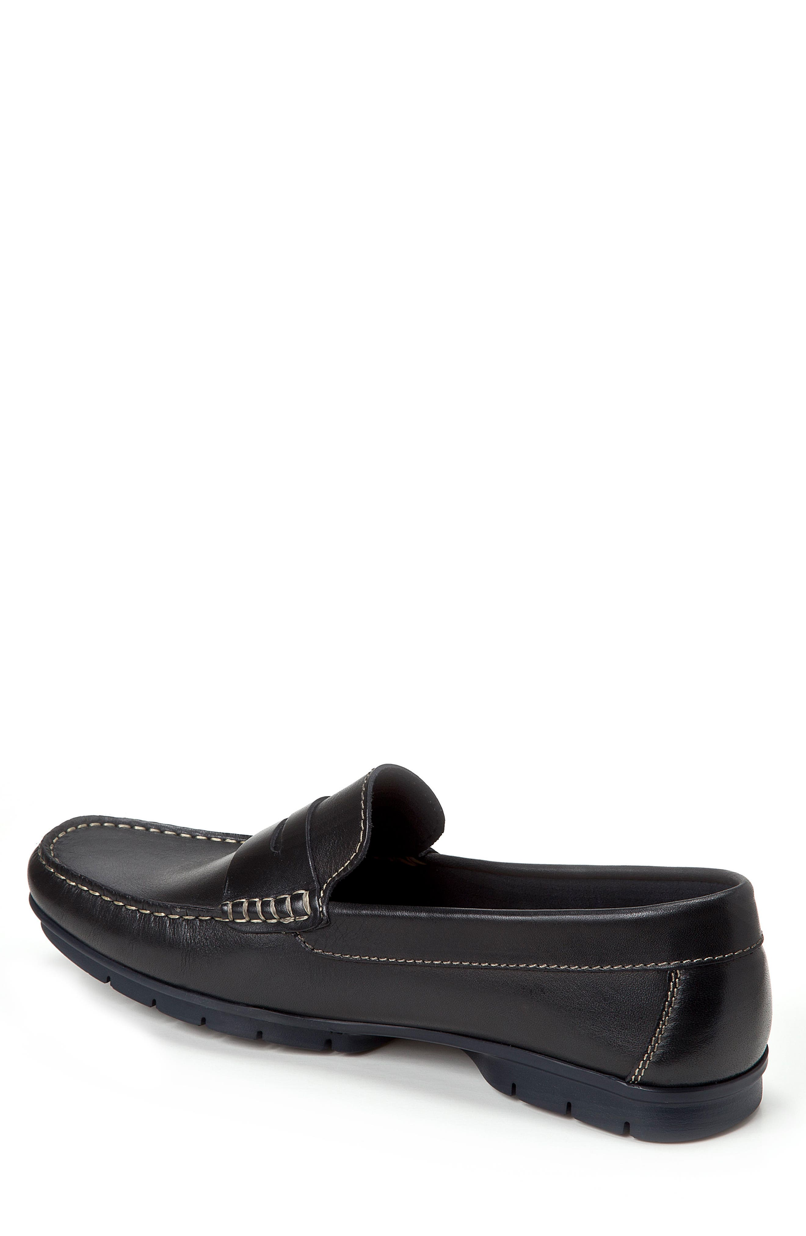 Paco Penny Loafer,                             Alternate thumbnail 2, color,                             BLACK LEATHER