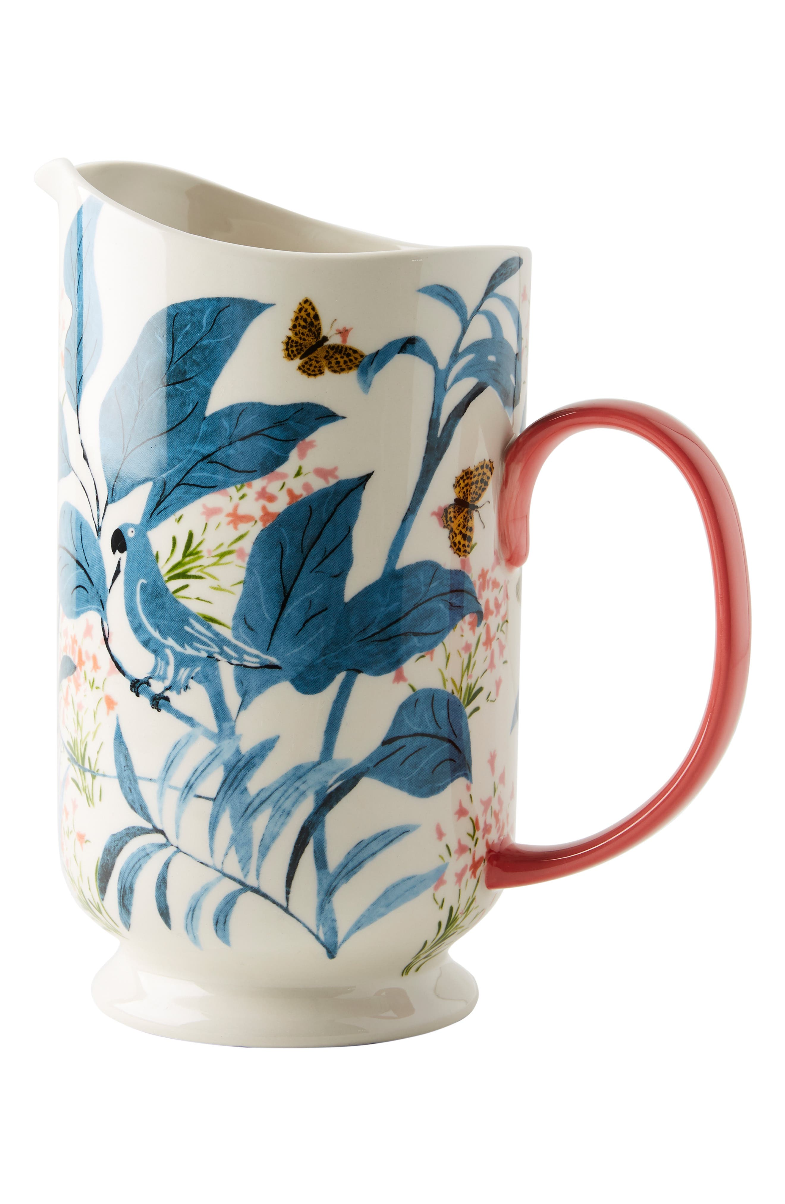 ANTHROPOLOGIE,                             Paule Marrot Butterfly Pitcher,                             Alternate thumbnail 5, color,                             BLUE
