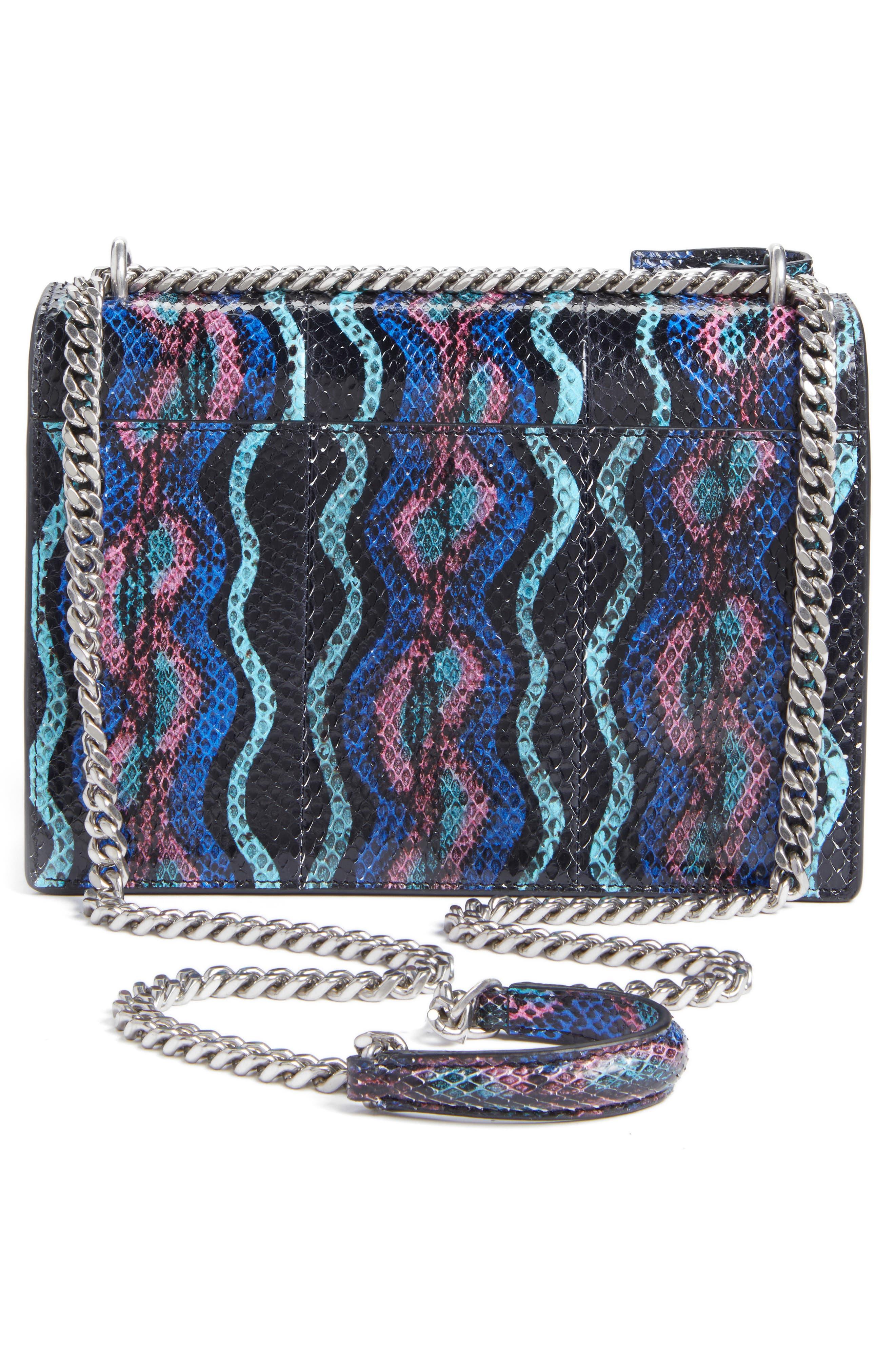 Medium Monogram Sunset Genuine Snakeskin Crossbody Bag,                             Alternate thumbnail 3, color,                             124